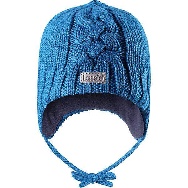 Шапка LassieШапки и шарфы<br>Характеристики товара:<br><br>• цвет: синий;<br>• состав: 50% шерсть, 50% полиакрил; <br>• подкладка: 100% полиэстер, флис;<br>• сезон: зима;<br>• без дополнительного утепления;<br>• температурный режим: от 0 до -20С;<br>• мягкая и теплая ткань из смеси шерсти;<br>• ветронепроницаемые вставки в области ушей;<br>• сплошная подкладка: мягкий теплый флис;<br>• шапка на завязках;<br>• светоотражающие детали;<br>• страна бренда: Финляндия;<br>• страна изготовитель: Китай;<br><br>Эта красивая шапка для малышей идеально подходит для холодных осенних и зимних дней. Оригинальная структурная вязка придает ей модный вид, а яркие цвета оживят любой наряд! Ветронепроницаемые вставки в области ушей помогут защитить ушки от морозного ветра во время прогулок на свежем воздухе.<br><br>Шапку Lassie (Ласси) можно купить в нашем интернет-магазине.<br><br>Ширина мм: 89<br>Глубина мм: 117<br>Высота мм: 44<br>Вес г: 155<br>Цвет: синий<br>Возраст от месяцев: 12<br>Возраст до месяцев: 24<br>Пол: Унисекс<br>Возраст: Детский<br>Размер: 46-48,50-52,44-46,42-44<br>SKU: 6905585