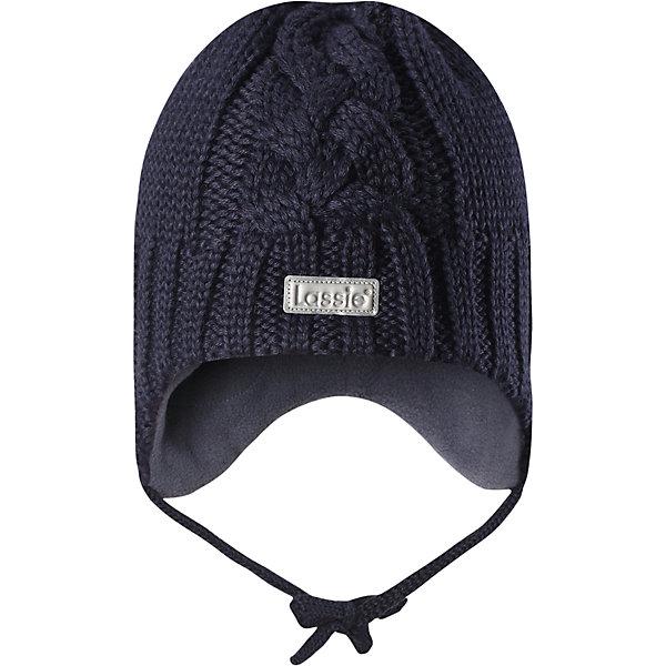 Шапка LassieШапки и шарфы<br>Характеристики товара:<br><br>• цвет: серый;<br>• состав: 50% шерсть, 50% полиакрил; <br>• подкладка: 100% полиэстер, флис;<br>• сезон: зима;<br>• без дополнительного утепления;<br>• температурный режим: от 0 до -20С;<br>• мягкая и теплая ткань из смеси шерсти;<br>• ветронепроницаемые вставки в области ушей;<br>• сплошная подкладка: мягкий теплый флис;<br>• шапка на завязках;<br>• светоотражающие детали;<br>• страна бренда: Финляндия;<br>• страна изготовитель: Китай;<br><br>Эта красивая шапка для малышей идеально подходит для холодных осенних и зимних дней. Оригинальная структурная вязка придает ей модный вид, а яркие цвета оживят любой наряд! Ветронепроницаемые вставки в области ушей помогут защитить ушки от морозного ветра во время прогулок на свежем воздухе.<br><br>Шапку Lassie (Ласси) можно купить в нашем интернет-магазине.<br><br>Ширина мм: 89<br>Глубина мм: 117<br>Высота мм: 44<br>Вес г: 155<br>Цвет: синий<br>Возраст от месяцев: 6<br>Возраст до месяцев: 9<br>Пол: Унисекс<br>Возраст: Детский<br>Размер: 42-44,50-52,46-48,44-46<br>SKU: 6905590