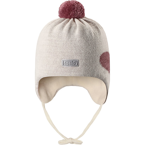 Шапка LassieШапки и шарфы<br>Характеристики товара:<br><br>• цвет: белый;<br>• состав: 50% шерсть, 50% полиакрил; <br>• подкладка: 100% полиэстер, флис;<br>• сезон: зима;<br>• без дополнительного утепления;<br>• температурный режим: от 0 до -20С;<br>• мягкая и теплая ткань из смеси шерсти;<br>• ветронепроницаемые вставки в области ушей;<br>• сплошная подкладка: мягкий теплый флис;<br>• шапка на завязках, с помпоном сверху;<br>• светоотражающие детали;<br>• страна бренда: Финляндия;<br>• страна изготовитель: Китай;<br><br>Эта стильная шапка для малышей с помпонами контрастного цвета и рисунком оживит зимние наряды! Ветронепроницаемые вставки в области ушей защищают нежные детские ушки во время игр на свежем воздухе. Шапка связана из теплой полушерстяной пряжи.<br><br>Шапку Lassie (Ласси) можно купить в нашем интернет-магазине.<br><br>Ширина мм: 89<br>Глубина мм: 117<br>Высота мм: 44<br>Вес г: 155<br>Цвет: серый<br>Возраст от месяцев: 6<br>Возраст до месяцев: 9<br>Пол: Женский<br>Возраст: Детский<br>Размер: 42-44,50-52,46-48,44-46<br>SKU: 6905595