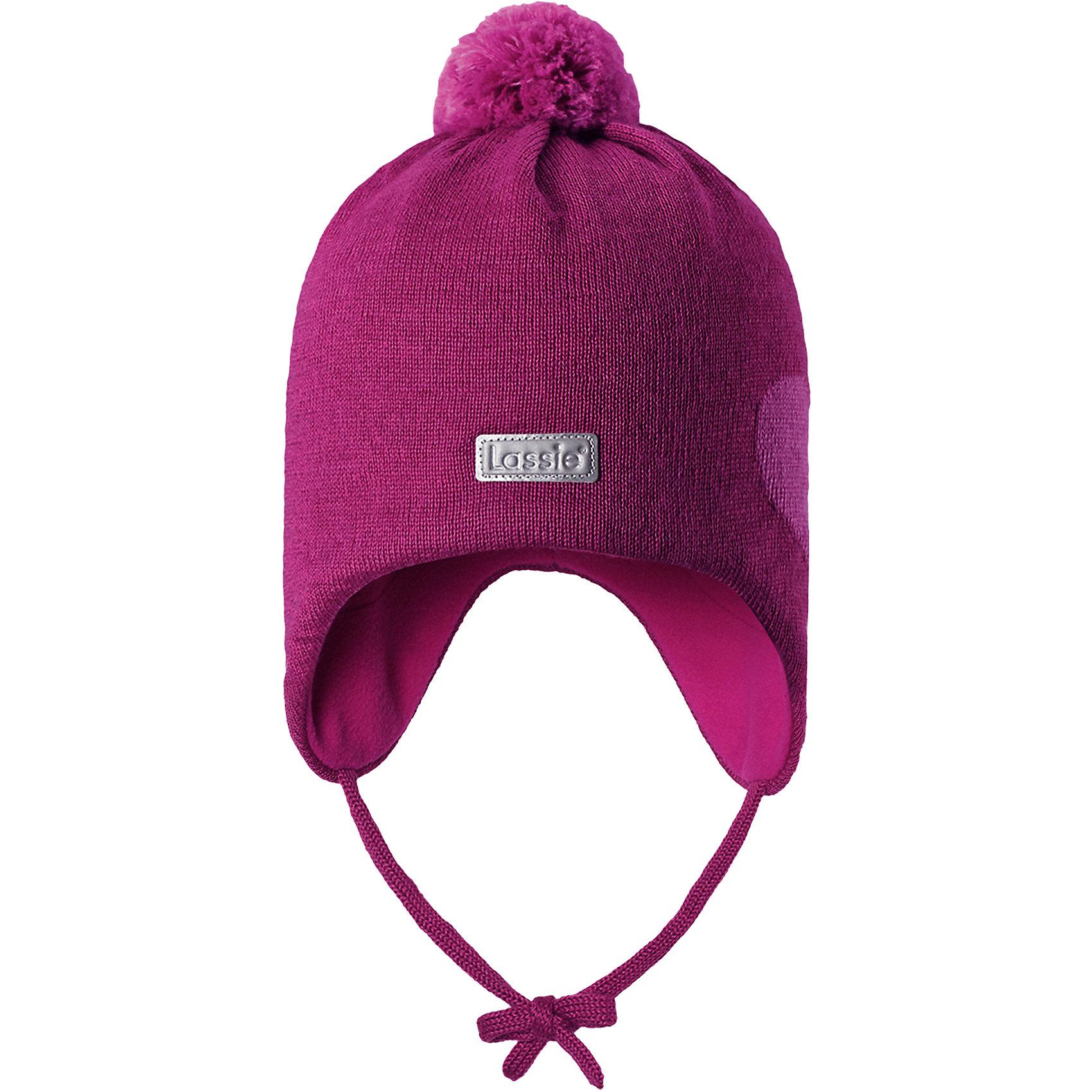 Шапка LassieШапки и шарфы<br>Характеристики товара:<br><br>• цвет: розовый;<br>• состав: 50% шерсть, 50% полиакрил; <br>• подкладка: 100% полиэстер, флис;<br>• сезон: зима;<br>• без дополнительного утепления;<br>• температурный режим: от 0 до -20С;<br>• мягкая и теплая ткань из смеси шерсти;<br>• ветронепроницаемые вставки в области ушей;<br>• сплошная подкладка: мягкий теплый флис;<br>• шапка на завязках, с помпоном сверху;<br>• светоотражающие детали;<br>• страна бренда: Финляндия;<br>• страна изготовитель: Китай;<br><br>Эта стильная шапка для малышей с помпонами контрастного цвета и рисунком оживит зимние наряды! Ветронепроницаемые вставки в области ушей защищают нежные детские ушки во время игр на свежем воздухе. Шапка связана из теплой полушерстяной пряжи.<br><br>Шапку Lassie (Ласси) можно купить в нашем интернет-магазине.<br><br>Ширина мм: 89<br>Глубина мм: 117<br>Высота мм: 44<br>Вес г: 155<br>Цвет: розовый<br>Возраст от месяцев: 36<br>Возраст до месяцев: 72<br>Пол: Женский<br>Возраст: Детский<br>Размер: 50-52,42-44,44-46,46-48<br>SKU: 6905600