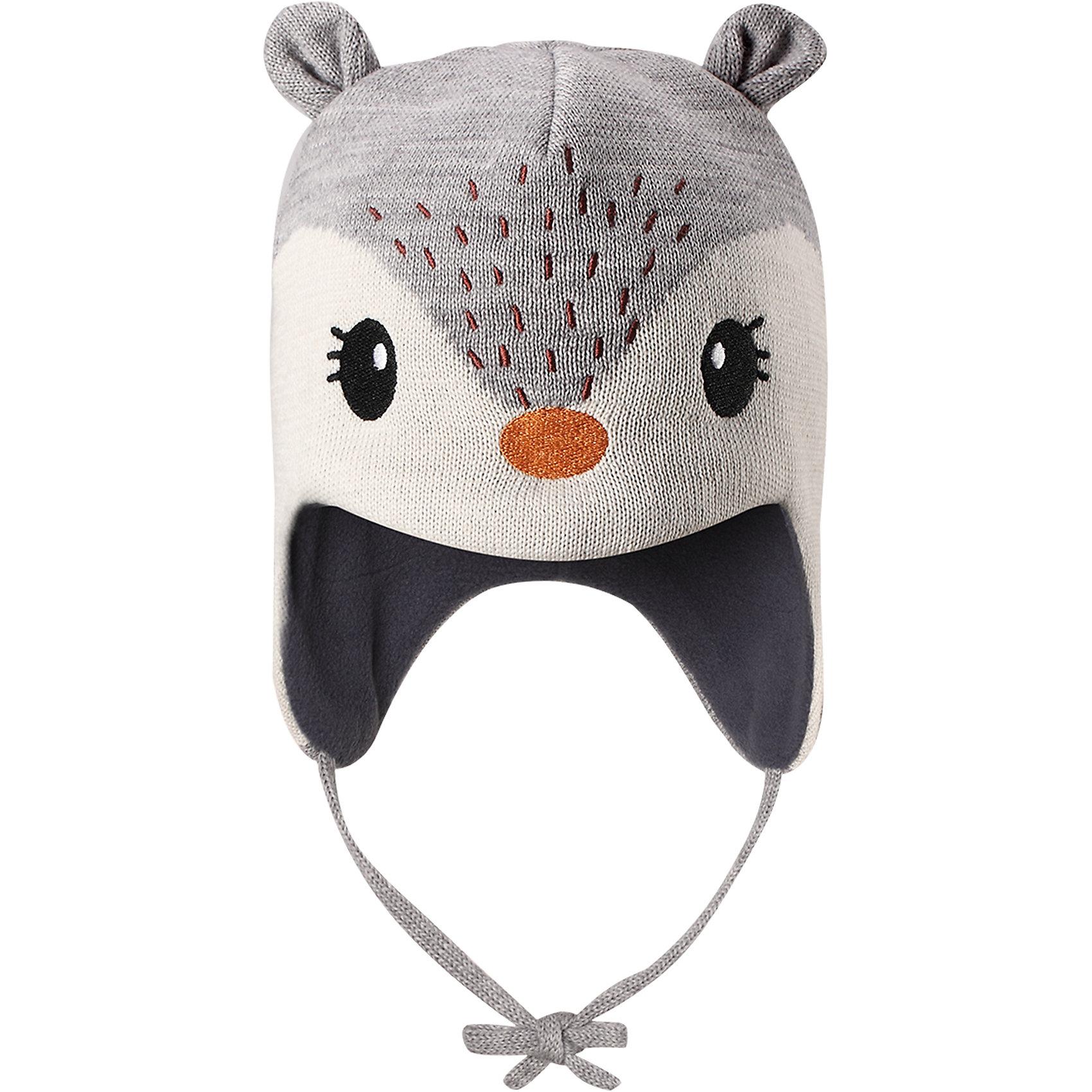 Шапка LassieШапки и шарфы<br>Эта очень мягкая и теплая шапка для новорожденных – превосходный аксессуар для холодных зимних деньков. Ветронепроницаемые вставки в области ушей обеспечивают ушкам дополнительную защиту, а мягкая флисовая подкладка очень приятна на ощупь.<br>Состав:<br>50% Шерсть, 50% Полиакрил<br><br>Ширина мм: 89<br>Глубина мм: 117<br>Высота мм: 44<br>Вес г: 155<br>Цвет: серый<br>Возраст от месяцев: 36<br>Возраст до месяцев: 72<br>Пол: Унисекс<br>Возраст: Детский<br>Размер: 50-52,42-44,44-46,46-48<br>SKU: 6905625
