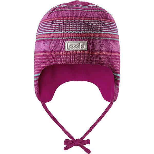 Шапка LassieШапки и шарфы<br>Характеристики товара:<br><br>• цвет: розовый;<br>• состав: 50% шерсть, 50% полиакрил; <br>• подкладка: 100% полиэстер, флис;<br>• сезон: зима;<br>• без дополнительного утепления;<br>• температурный режим: от 0 до -20С;<br>• мягкая и теплая ткань из смеси шерсти;<br>• ветронепроницаемые вставки в области ушей;<br>• сплошная подкладка: мягкий теплый флис;<br>• шапка на завязках;<br>• светоотражающие детали;<br>• страна бренда: Финляндия;<br>• страна изготовитель: Китай;<br><br>Эта шапка для малышей и детей постарше изготовлена из полушерстяной пряжи. Ветронепроницаемые вставки в области ушей защищают ушки во время зимних прогулок. Яркие цвета в сочетании со стильными полосками создают завершенный образ.<br><br>Шапку Lassie (Ласси) можно купить в нашем интернет-магазине.<br><br>Ширина мм: 89<br>Глубина мм: 117<br>Высота мм: 44<br>Вес г: 155<br>Цвет: розовый<br>Возраст от месяцев: 36<br>Возраст до месяцев: 72<br>Пол: Женский<br>Возраст: Детский<br>Размер: 50-52,46-48,44-46,42-44<br>SKU: 6905630