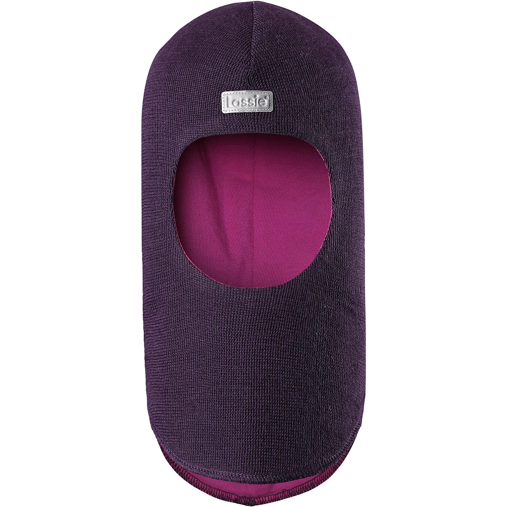 Шапка-шлем LassieШапки и шарфы<br>Характеристики товара:<br><br>• цвет: фиолетовый;<br>• состав: 50% шерсть, 50% полиакрил;<br>• подкладка: 97% хлопок, 3% эластан;<br>• сезон: зима;<br>• температурный режим: от +5 до -20С;<br>• особенности: шерстяная;<br>• мягкая и теплая ткань из смеси шерсти;<br>• ветронепроницаемые вставки в области ушей;<br>• сплошная подкладка: приятный на ощупь хлопковый трикотаж с эластаном;<br>• светоотражающая эмблема спереди;<br>• страна бренда: Финляндия;<br>• страна изготовитель: Китай;<br><br>Зимняя шапка-шлем на подкладке. Шапка из смеси шерсти с ветронепроницаемыми вставками в области ушей защитит от морозов. Шапка на мягкой трикотажной подкладке не будет раздражать кожу ребенка. Шапка снабжена светоотражающим элементом спереди.<br><br>Шапку Lassie (Ласси) можно купить в нашем интернет-магазине.<br><br>Ширина мм: 89<br>Глубина мм: 117<br>Высота мм: 44<br>Вес г: 155<br>Цвет: лиловый<br>Возраст от месяцев: 72<br>Возраст до месяцев: 144<br>Пол: Женский<br>Возраст: Детский<br>Размер: 54-56,50-52,44-46,46-48<br>SKU: 6905677