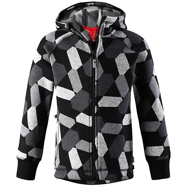 Флисовая кофта Reima NorthernОдежда<br>Характеристики товара:<br><br>• цвет: серый;<br>• состав: 100% полиэстер; <br>• сезон: демисезон;<br>• мягкий меланжевый флисовый трикотаж: выглядит, как обычный свитер, и обладает всеми преимуществами флиса;<br>• быстро сохнет и сохраняет тепло;<br>• эластичные манжеты;<br>• молния по всей длине с защитой подбородка;<br>• два боковых кармана;<br>• карман с креплениями для сенсора ReimaGO®;<br>• страна бренда: Финляндия;<br>• страна изготовитель: Китай;<br><br>Кофта из вязаного флиса превосходно послужит в качестве промежуточного слоя во время активных зимних прогулок, кроме того она очень мягкая на ощупь. Она сшита из теплого, дышащего и быстросохнущего материала. Молния во всю длину облегчает надевание, а защита для подбородка не даст поцарапаться о зубчики. Снабжена двумя боковыми карманами и специальным потайным карманом с кнопками для сенсора ReimaGO®. Эта модная детская модель украшена сплошным рисунком и оснащена несъемным капюшоном.<br><br>Флисовую кофту Reima Northern (Рейма) можно купить в нашем интернет-магазине.<br><br>Ширина мм: 190<br>Глубина мм: 74<br>Высота мм: 229<br>Вес г: 236<br>Цвет: черный<br>Возраст от месяцев: 36<br>Возраст до месяцев: 48<br>Пол: Унисекс<br>Возраст: Детский<br>Размер: 104,164,158,152,146,140,134,128,122,116,110<br>SKU: 6906013