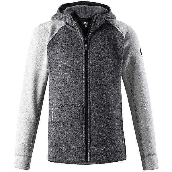 Флисовая кофта Reima JakalaФлис и термобелье<br>Характеристики товара:<br><br>• цвет: серый;<br>• состав: 100% полиэстер; <br>• сезон: демисезон;<br>• мягкий меланжевый флисовый трикотаж: выглядит, как обычный свитер, и обладает всеми преимуществами флиса;<br>• быстро сохнет и сохраняет тепло;<br>• регулируемый капюшон;<br>• молния по всей длине с защитой подбородка;<br>• два передних кармана;<br>• карман с креплениями для сенсора ReimaGO®;<br>• страна бренда: Финляндия;<br>• страна изготовитель: Китай;<br><br>Удобная детская флисовая кофта из мягкой меланжевой пряжи. Она сшита из материала, который объединил в себе стильный вязаный дизайн и все преимущества флиса: удобный, легкий, эластичный и дышащий флис быстро сохнет, выводя влагу в верхние слои одежды. Кофта снабжена капюшоном, молнией во всю длину, двумя передними карманами на молнии и специальным карманом с кнопками для сенсора ReimaGo.<br><br>Флисовую кофту Reima Jakala (Рейма) можно купить в нашем интернет-магазине.<br><br>Ширина мм: 190<br>Глубина мм: 74<br>Высота мм: 229<br>Вес г: 236<br>Цвет: серый<br>Возраст от месяцев: 156<br>Возраст до месяцев: 168<br>Пол: Унисекс<br>Возраст: Детский<br>Размер: 164,140,104,110,116,122,128,134,146,152,158<br>SKU: 6906245