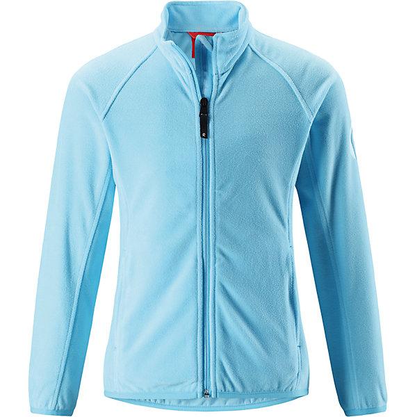 Флисовая кофта Reima Alagna для девочкиОдежда<br>Характеристики товара:<br><br>• цвет: голубой;<br>• состав: 100% полиэстер; <br>• сезон: демисезон;<br>• выводит влагу в верхние слои одежды;<br>• теплый, легкий и быстросохнущий флис;<br>• эластичные манжеты и подол;<br>• молния по всей длине с защитой подбородка;<br>• два кармана на молнии;<br>• страна бренда: Финляндия;<br>• страна изготовитель: Китай;<br><br>Эта детская флисовая куртка сшита из необыкновенно легкого и теплого микрофлиса. Материал идеально подходит для зимних активных забав, поскольку эффективно выводит влагу от кожи в верхние слои одежды и быстро сохнет. Дышащий материал не парит, сколько ни бегай. Защита для подбородка на молнии обеспечивает дополнительный комфорт и не дает поцарапаться об зубчики. Куртка украшена горячим тиснением и снабжена двумя карманами на молнии, а также эластичным подолом и манжетами.<br><br>Флисовую кофту Alagna для девочки Reima (Рейма) можно купить в нашем интернет-магазине.<br><br>Ширина мм: 190<br>Глубина мм: 74<br>Высота мм: 229<br>Вес г: 236<br>Цвет: синий<br>Возраст от месяцев: 36<br>Возраст до месяцев: 48<br>Пол: Женский<br>Возраст: Детский<br>Размер: 104,164,158,152,146,140,134,128,122,116,110<br>SKU: 6906293