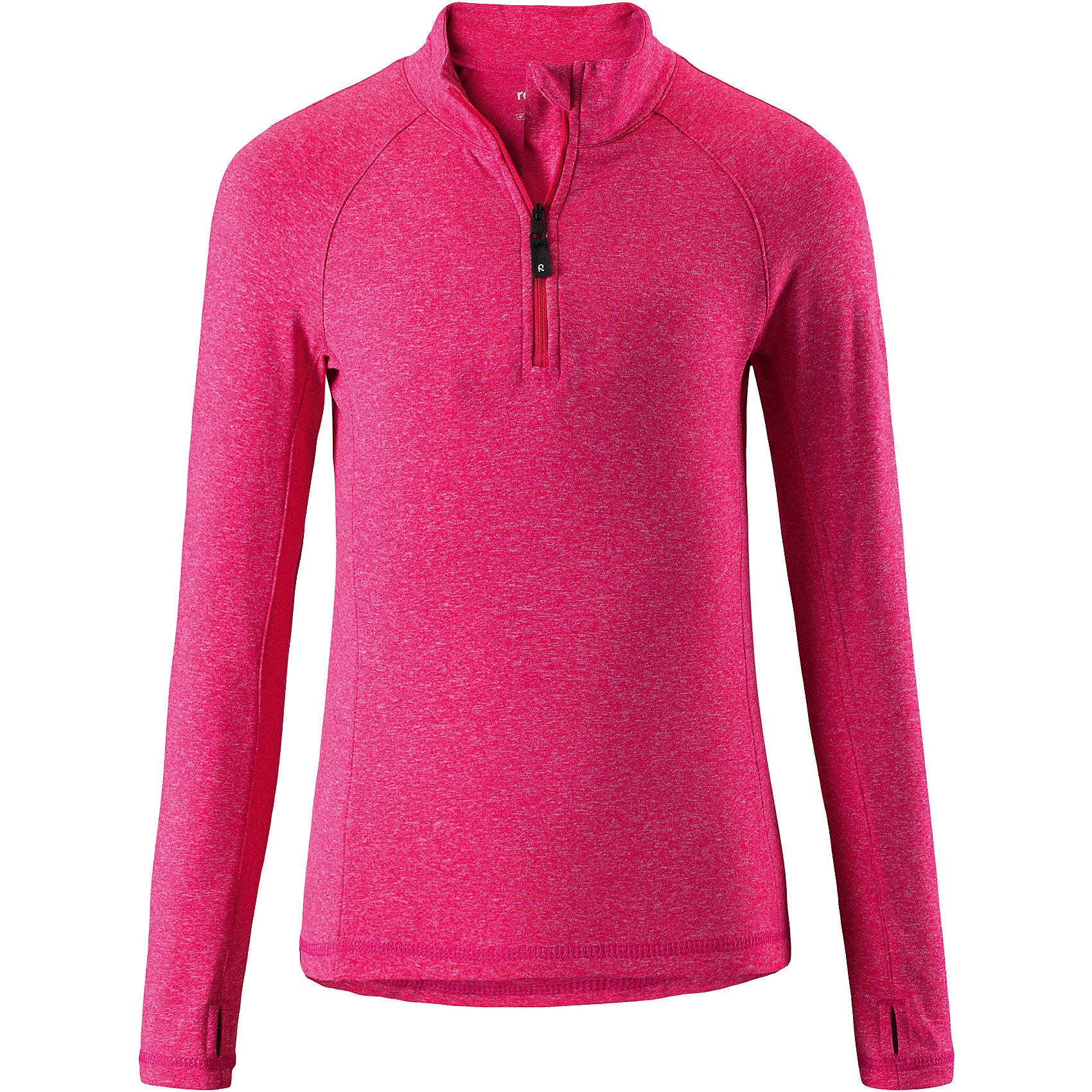 Свитер Reima Still для девочкиФлис и термобелье<br>Характеристики товара:<br><br>• цвет: розовый;<br>• состав: 92% полиэстер, 8% эластан; <br>• сезон: демисезон;<br>• мягкая ткань с начесом, приятная на ощупь;<br>• гладкая передняя часть;<br>• выводит влагу в верхние слои одежды;<br>• отверстие для большого пальца на манжете;<br>• молния спереди;<br>• страна бренда: Финляндия;<br>• страна изготовитель: Китай;<br><br>Популярная кофта для подростков изготовлена из мягкого эластичного меланжевого джерси с гладкой поверхностью. Изнаночная сторона с начесом очень удобная и приятная на ощупь, а удлиненная спинка обеспечивает пояснице дополнительную защиту. Этот дышащий материал отводит влагу от кожи и быстро сохнет, благодаря чему кофта стенет отличным выбором для активных прогулок. Материал имеет УФ-защиту 50+. Эта кофта для девочек снабжена молнией спереди и удобным отверстием для большого пальца на концах рукавов.<br><br>Свитер Still для девочки Reima (Рейма) можно купить в нашем интернет-магазине.<br><br>Ширина мм: 190<br>Глубина мм: 74<br>Высота мм: 229<br>Вес г: 236<br>Цвет: розовый<br>Возраст от месяцев: 156<br>Возраст до месяцев: 168<br>Пол: Женский<br>Возраст: Детский<br>Размер: 164,104,110,116,122,128,134,140,146,152,158<br>SKU: 6906353