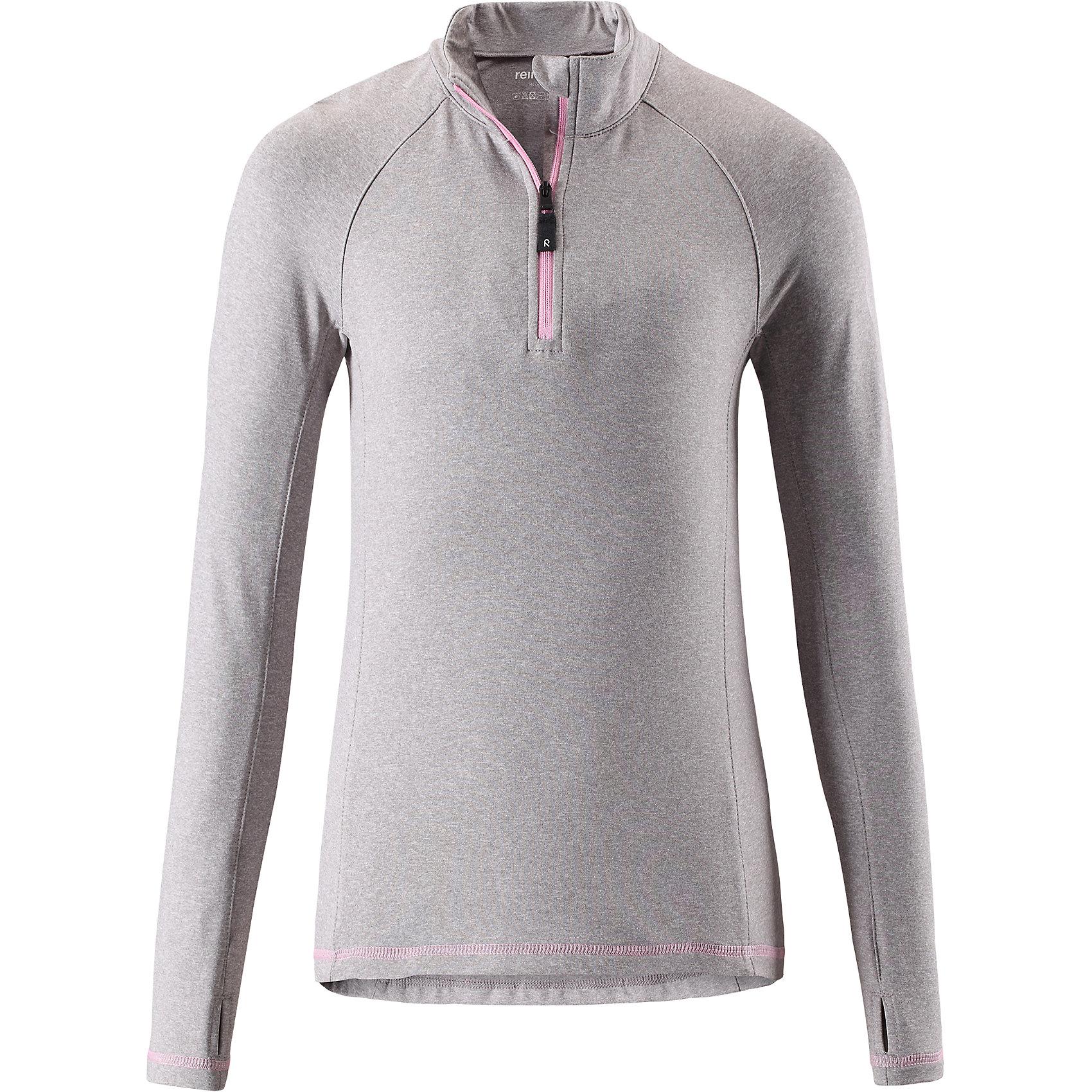 Свитер Reima Still для девочкиФлис и термобелье<br>Характеристики товара:<br><br>• цвет: серый;<br>• состав: 92% полиэстер, 8% эластан; <br>• сезон: демисезон;<br>• мягкая ткань с начесом, приятная на ощупь;<br>• гладкая передняя часть;<br>• выводит влагу в верхние слои одежды;<br>• отверстие для большого пальца на манжете;<br>• молния спереди;<br>• страна бренда: Финляндия;<br>• страна изготовитель: Китай;<br><br>Популярная кофта для подростков изготовлена из мягкого эластичного меланжевого джерси с гладкой поверхностью. Изнаночная сторона с начесом очень удобная и приятная на ощупь, а удлиненная спинка обеспечивает пояснице дополнительную защиту. Этот дышащий материал отводит влагу от кожи и быстро сохнет, благодаря чему кофта стенет отличным выбором для активных прогулок. Материал имеет УФ-защиту 50+. Эта кофта для девочек снабжена молнией спереди и удобным отверстием для большого пальца на концах рукавов.<br><br>Свитер Still для девочки Reima (Рейма) можно купить в нашем интернет-магазине.<br><br>Ширина мм: 190<br>Глубина мм: 74<br>Высота мм: 229<br>Вес г: 236<br>Цвет: серый<br>Возраст от месяцев: 156<br>Возраст до месяцев: 168<br>Пол: Женский<br>Возраст: Детский<br>Размер: 164,104,110,116,122,128,134,140,146,152,158<br>SKU: 6906365