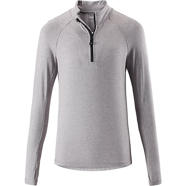 Свитер Reima Sly для мальчикаФлис и термобелье<br>Характеристики товара:<br><br>• цвет: серый;<br>• состав: 92% полиэстер, 8% эластан; <br>• сезон: демисезон;<br>• мягкая ткань с начесом, приятная на ощупь;<br>• гладкая передняя часть;<br>• выводит влагу в верхние слои одежды;<br>• отверстие для большого пальца на манжете;<br>• молния спереди;<br>• страна бренда: Финляндия;<br>• страна изготовитель: Китай;<br><br>Популярная кофта для подростков изготовлена из мягкого эластичного меланжевого джерси с гладкой поверхностью. Изнаночная сторона с начесом очень удобная и приятная на ощупь, а удлиненная спинка обеспечивает пояснице дополнительную защиту. Этот дышащий материал отводит влагу от кожи и быстро сохнет, благодаря чему кофта стенет отличным выбором для активных прогулок. Материал имеет УФ-защиту 50+. Эта кофта для девочек снабжена молнией спереди и удобным отверстием для большого пальца на концах рукавов.<br><br>Свитер Sly для мальчика Reima (Рейма) можно купить в нашем интернет-магазине.<br>Ширина мм: 190; Глубина мм: 74; Высота мм: 229; Вес г: 236; Цвет: серый; Возраст от месяцев: 36; Возраст до месяцев: 48; Пол: Мужской; Возраст: Детский; Размер: 104,164,110,116,122,128,134,140,146,152,158; SKU: 6906389;