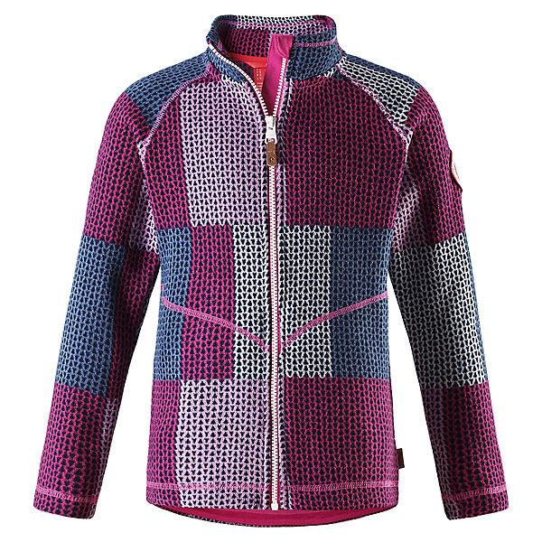 Флисовая кофта Reima Meadow для девочкиТолстовки<br>Характеристики товара:<br><br>• цвет: сиреневый;<br>• состав: 100% полиэстер; <br>• сезон: демисезон;<br>• мягкий меланжевый флисовый трикотаж: выглядит, как обычный свитер, и обладает всеми преимуществами флиса;<br>• быстро сохнет и сохраняет тепло;<br>• молния по всей длине с защитой подбородка;<br>• боковые карманы;<br>• страна бренда: Финляндия;<br>• страна изготовитель: Китай;<br><br>Эта флисовая кофта на молнии сшита из необыкновенно легкого и теплого флиса. Материал идеально подходит для зимних активных забав, поскольку эффективно выводит влагу от кожи в верхние слои одежды и быстро сохнет. Дышащий материал не парит, сколько ни бегай. Защита для подбородка на молнии обеспечивает дополнительный комфорт и не дает поцарапаться об зубчики.<br><br>Флисовую кофту Reima Meadow для девочки (Рейма) можно купить в нашем интернет-магазине.<br><br>Ширина мм: 190<br>Глубина мм: 74<br>Высота мм: 229<br>Вес г: 236<br>Цвет: розовый<br>Возраст от месяцев: 36<br>Возраст до месяцев: 48<br>Пол: Женский<br>Возраст: Детский<br>Размер: 104,164,110,116,122,128,134,140,146,152,158<br>SKU: 6906524
