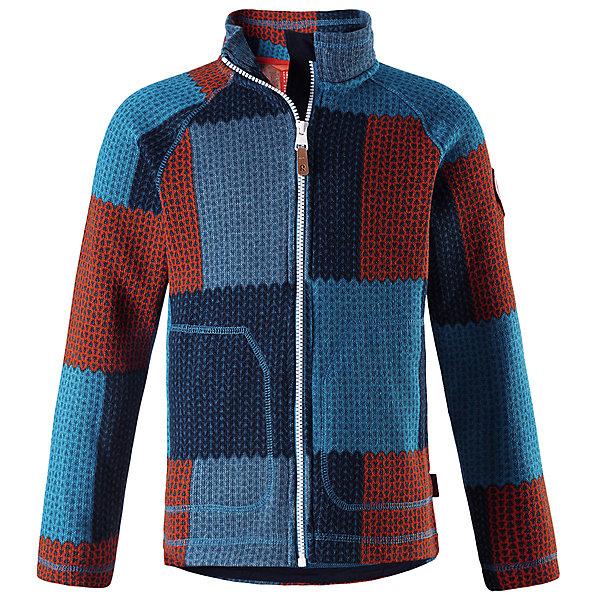 Флисовая кофта Reima Brollies для мальчикаОдежда<br>Характеристики товара:<br><br>• цвет: синий;<br>• состав: 100% полиэстер; <br>• сезон: демисезон;<br>• мягкий меланжевый флисовый трикотаж: выглядит, как обычный свитер, и обладает всеми преимуществами флиса;<br>• быстро сохнет и сохраняет тепло;<br>• молния по всей длине с защитой подбородка;<br>• боковые карманы;<br>• страна бренда: Финляндия;<br>• страна изготовитель: Китай;<br><br>Эта флисовая кофта на молнии сшита из необыкновенно легкого и теплого флиса. Материал идеально подходит для зимних активных забав, поскольку эффективно выводит влагу от кожи в верхние слои одежды и быстро сохнет. Дышащий материал не парит, сколько ни бегай. Защита для подбородка на молнии обеспечивает дополнительный комфорт и не дает поцарапаться об зубчики.<br><br>Флисовую кофту Reima Brollies для мальчика (Рейма) можно купить в нашем интернет-магазине.<br><br>Ширина мм: 190<br>Глубина мм: 74<br>Высота мм: 229<br>Вес г: 236<br>Цвет: синий<br>Возраст от месяцев: 36<br>Возраст до месяцев: 48<br>Пол: Мужской<br>Возраст: Детский<br>Размер: 104,164,158,152,146,140,134,128,122,116,110<br>SKU: 6906536