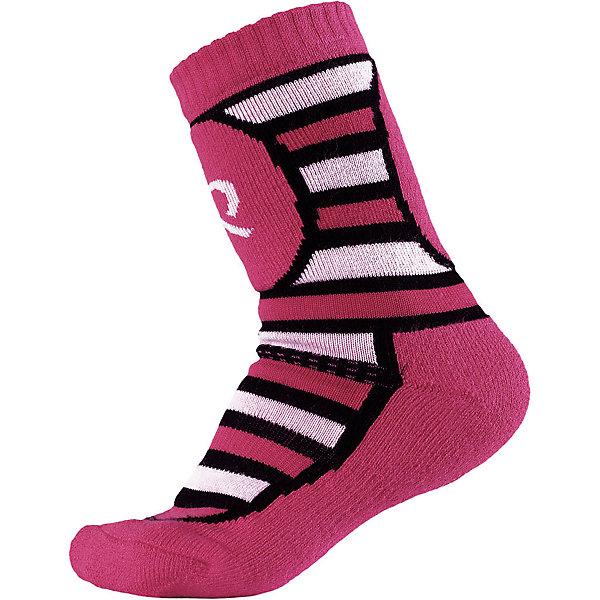 Носки Reima Stork Thermolite для девочкиНоски<br>Характеристики товара:<br><br>• цвет: розовый;<br>• состав: 40% шерсть, 36% полиэстер thermolite, 10% полиамид, 12% полиэстер, 2% эластан; <br>• сезон: зима;<br>• мягкий и теплый материал с внутренней стороны для максимального комфорта;<br>• усиленные накладки на ступнях, лодыжках и больших пальцах;<br>• быстро сохнут и сохраняют тепло;<br>• материал Thermolite для интенсивной физической активности;<br>• страна бренда: Финляндия;<br>• страна изготовитель: Китай;<br><br>Носки из шерсти Thermolite® для детей и подростков готовы к действию! Смесь шерсти и материала Thermolite® в холодную погоду гарантирует максимальный комфорт и тепло. Мериносовая шерсть согреет ножки, а Thermolite® отлично подходит для интенсивных физических нагрузок. Изнанка с мягким эластичным ворсом очень приятна на ощупь. Усиления на стопе, пятке и носке.<br><br>Носки Stork Thermolite Reima (Рейма) можно купить в нашем интернет-магазине.<br>Ширина мм: 87; Глубина мм: 10; Высота мм: 105; Вес г: 115; Цвет: розовый; Возраст от месяцев: 168; Возраст до месяцев: 1188; Пол: Женский; Возраст: Детский; Размер: 30-33,38-41,34-37; SKU: 6906560;