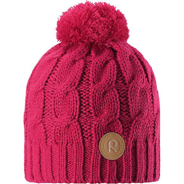 Шапка Reima Laavu для девочкиШапки и шарфы<br>Характеристики товара:<br><br>• цвет: розовый;<br>• состав: 100% полиакрил;<br>• подкладка: 100% полиэстер, флис;<br>• утеплитель: без дополнительного утепления;<br>• сезон: зима;<br>• температурный режим: от 0 до -20С;<br>• особенности: вязаная, с помпоном;<br>• теплый, толстый, качественный трикотаж;<br>• ветронепроницаемые вставки в области ушей;<br>• сплошная подкладка: мягкий теплый флис;<br>• светоотражающие детали;<br>• страна бренда: Финляндия;<br>• страна изготовитель: Китай.<br><br>Детская шапка связана из теплой, плотной, высококачественной пряжи. Ветронепроницаемые вставки и подкладка из мягкого и дышащего флиса. Оригинальный структурный узор и большой помпон на макушке дополняют образ.<br><br>Шапку Laavu Reima от финского бренда Reima (Рейма) можно купить в нашем интернет-магазине.<br>Ширина мм: 89; Глубина мм: 117; Высота мм: 44; Вес г: 155; Цвет: розовый; Возраст от месяцев: 60; Возраст до месяцев: 72; Пол: Женский; Возраст: Детский; Размер: 52,56,54; SKU: 6906580;