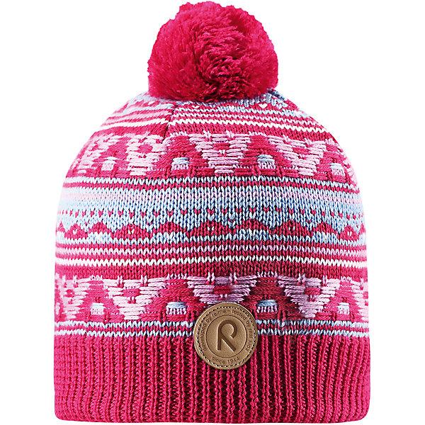 Шапка Reima Neulanen для девочкиШапки и шарфы<br>Характеристики товара:<br><br>• цвет: розовый;<br>• состав: 50% шерсть, 50% полиакрил;<br>• подкладка: 100% полиэстер, флис;<br>• утеплитель: без дополнительного утепления;<br>• сезон: зима;<br>• температурный режим: от 0 до -20С;<br>• особенности: вязаная, с помпоном;<br>• шерсть идеально поддерживает температуру;<br>• ветронепроницаемые вставки в области ушей;<br>• сплошная подкладка: мягкий теплый флис;<br>• светоотражающие детали;<br>• страна бренда: Финляндия;<br>• страна изготовитель: Китай.<br><br>Детская шапка из теплого шерстяного трикотажа. Материал превосходно регулирует температуру и хорошо согревает голову. Ветронепроницаемые вставки и подкладка из мягкого флиса. Декоративный вязаный узор и помпон на макушке довершают образ.<br><br>Шапку Neulanen Reima от финского бренда Reima (Рейма) можно купить в нашем интернет-магазине.<br>Ширина мм: 89; Глубина мм: 117; Высота мм: 44; Вес г: 155; Цвет: розовый; Возраст от месяцев: 84; Возраст до месяцев: 144; Пол: Женский; Возраст: Детский; Размер: 56,54,52; SKU: 6906600;