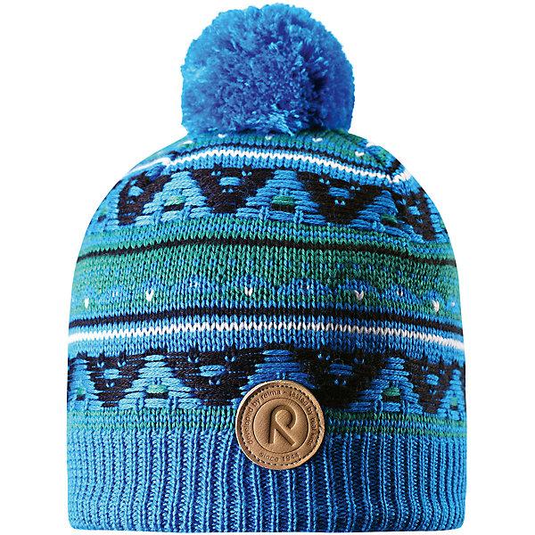 Шапка Reima Neulanen для мальчикаГоловные уборы<br>Характеристики товара:<br><br>• цвет: голубой;<br>• состав: 50% шерсть, 50% полиакрил;<br>• подкладка: 100% полиэстер, флис;<br>• утеплитель: без дополнительного утепления;<br>• сезон: зима;<br>• температурный режим: от 0 до -20С;<br>• особенности: вязаная, с помпоном;<br>• шерсть идеально поддерживает температуру;<br>• ветронепроницаемые вставки в области ушей;<br>• сплошная подкладка: мягкий теплый флис;<br>• светоотражающие детали;<br>• страна бренда: Финляндия;<br>• страна изготовитель: Китай.<br><br>Детская шапка из теплого шерстяного трикотажа. Материал превосходно регулирует температуру и хорошо согревает голову. Ветронепроницаемые вставки и подкладка из мягкого флиса. Декоративный вязаный узор и помпон на макушке довершают образ.<br><br>Шапку Neulanen Reima от финского бренда Reima (Рейма) можно купить в нашем интернет-магазине.<br><br>Ширина мм: 89<br>Глубина мм: 117<br>Высота мм: 44<br>Вес г: 155<br>Цвет: синий<br>Возраст от месяцев: 60<br>Возраст до месяцев: 72<br>Пол: Мужской<br>Возраст: Детский<br>Размер: 52,56,54<br>SKU: 6906604
