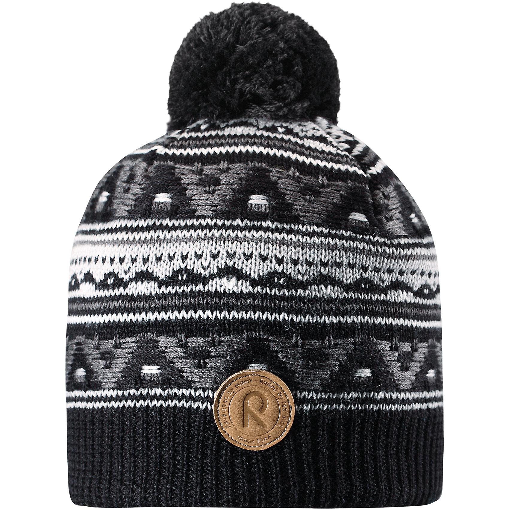 Шапка Neulanen ReimaГоловные уборы<br>Детская шапка из теплого шерстяного трикотажа. Материал превосходно регулирует температуру и хорошо согревает голову. Ветронепроницаемые вставки и подкладка из мягкого флиса. Декоративный вязаный узор и помпон на макушке довершают образ.<br>Состав:<br>50% Шерсть, 50% Полиакрил<br><br>Ширина мм: 89<br>Глубина мм: 117<br>Высота мм: 44<br>Вес г: 155<br>Цвет: серый<br>Возраст от месяцев: 84<br>Возраст до месяцев: 144<br>Пол: Унисекс<br>Возраст: Детский<br>Размер: 56,52,54<br>SKU: 6906608