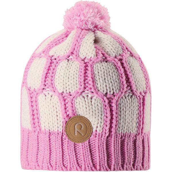 Шапка Reima Lakka для девочкиШапки и шарфы<br>Характеристики товара:<br><br>• цвет: розовый;<br>• состав: 100% полиакрил;<br>• подкладка: 100% полиэстер, флис;<br>• утеплитель: без дополнительного утепления;<br>• сезон: зима;<br>• температурный режим: от 0 до -20С;<br>• особенности: вязаная, с помпоном;<br>• теплый, толстый, качественный трикотаж;<br>• ветронепроницаемые вставки в области ушей;<br>• сплошная подкладка: мягкий теплый флис;<br>• светоотражающие детали;<br>• страна бренда: Финляндия;<br>• страна изготовитель: Китай.<br><br>Детская шапка связана из теплой, плотной, высококачественной пряжи. Ветронепроницаемые вставки и подкладка из мягкого и дышащего флиса. Оригинальный структурный узор и большой помпон на макушке дополняют образ.<br><br>Шапку Lakka Reima от финского бренда Reima (Рейма) можно купить в нашем интернет-магазине.<br>Ширина мм: 89; Глубина мм: 117; Высота мм: 44; Вес г: 155; Цвет: розовый; Возраст от месяцев: 60; Возраст до месяцев: 72; Пол: Женский; Возраст: Детский; Размер: 52,56,54; SKU: 6906616;
