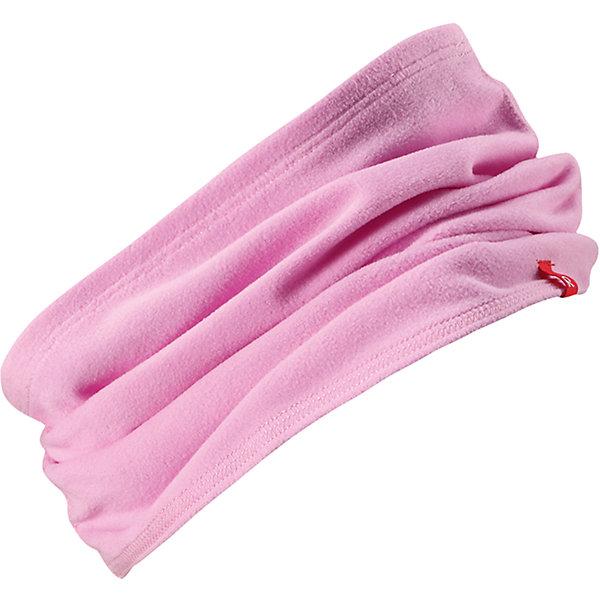 Шарф-хомут Reima Huuhkain для девочкиШапки и шарфы<br>Характеристики товара:<br><br>• цвет: розовый;<br>• состав: 100% полиэстер; <br>• сезон: зима;<br>• теплый, легкий и быстросохнущий флис;<br>• легкая стиль, без подкладки;<br>• страна бренда: Финляндия;<br>• страна изготовитель: Китай;<br><br>Шарф-хомут для малышей и детей постарше сшит из теплого и быстросохнущего микрофлиса. Этот материал приятный на ощупь, эластичный, дышащий и отводит влагу от кожи – в нем ребенку будет тепло намного дольше. Облегченную модель без подкладки легко и удобно надевать. Шарф-хомут надежно согреет вашего покорителя погоды.<br><br>Шарф-хомут Reima Huuhkain (Рейма) можно купить в нашем интернет-магазине.<br>Ширина мм: 88; Глубина мм: 155; Высота мм: 26; Вес г: 106; Цвет: розовый; Возраст от месяцев: 48; Возраст до месяцев: 168; Пол: Женский; Возраст: Детский; Размер: one size; SKU: 6906661;