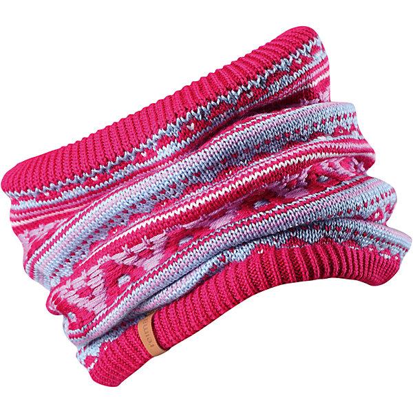 Шарф-хомут Reima Seeds для девочкиШапки и шарфы<br>Характеристики товара:<br><br>• цвет: розовый;<br>• состав: 50% шерсть, 50% полиакрил; <br>• подкладка: 100% полиэстер, флис;<br>• сезон: зима;<br>• шерсть идеально поддерживает температуру;<br>• мягкая и теплая ткань из смеси шерсти;<br>• сплошная подкладка: мягкий теплый флис;<br>• страна бренда: Финляндия;<br>• страна изготовитель: Китай;<br><br>Детская горловина, или шарф-хомут, очень удобна – просто наденьте ее на шею, и прогулка будет теплой и приятной. Шерсть – превосходный терморегулятор, а нежный флис делает подкладку очень мягкой и приятной на ощупь. Этот универсальный шарф можно надевать на голову как повязку для защиты волос и ушей или даже носить как шапку. Сплошная жаккардовая узорная вязка придаст изюминку вашему образу.<br><br>Шарф-хомут Reima Huuhkain (Рейма) можно купить в нашем интернет-магазине.<br><br>Ширина мм: 88<br>Глубина мм: 155<br>Высота мм: 26<br>Вес г: 106<br>Цвет: розовый<br>Возраст от месяцев: 36<br>Возраст до месяцев: 48<br>Пол: Женский<br>Возраст: Детский<br>Размер: 50/52,54/56<br>SKU: 6906667