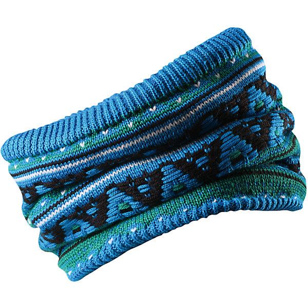 Шарф-хомут Reima SeedsШапки и шарфы<br>Характеристики товара:<br><br>• цвет: голубой;<br>• состав: 50% шерсть, 50% полиакрил; <br>• подкладка: 100% полиэстер, флис;<br>• сезон: зима;<br>• шерсть идеально поддерживает температуру;<br>• мягкая и теплая ткань из смеси шерсти;<br>• сплошная подкладка: мягкий теплый флис;<br>• страна бренда: Финляндия;<br>• страна изготовитель: Китай;<br><br>Детская горловина, или шарф-хомут, очень удобна – просто наденьте ее на шею, и прогулка будет теплой и приятной. Шерсть – превосходный терморегулятор, а нежный флис делает подкладку очень мягкой и приятной на ощупь. Этот универсальный шарф можно надевать на голову как повязку для защиты волос и ушей или даже носить как шапку. Сплошная жаккардовая узорная вязка придаст изюминку вашему образу.<br><br>Шарф-хомут Reima Huuhkain (Рейма) можно купить в нашем интернет-магазине.<br><br>Ширина мм: 88<br>Глубина мм: 155<br>Высота мм: 26<br>Вес г: 106<br>Цвет: синий<br>Возраст от месяцев: 36<br>Возраст до месяцев: 48<br>Пол: Унисекс<br>Возраст: Детский<br>Размер: 54/56,50/52<br>SKU: 6906670