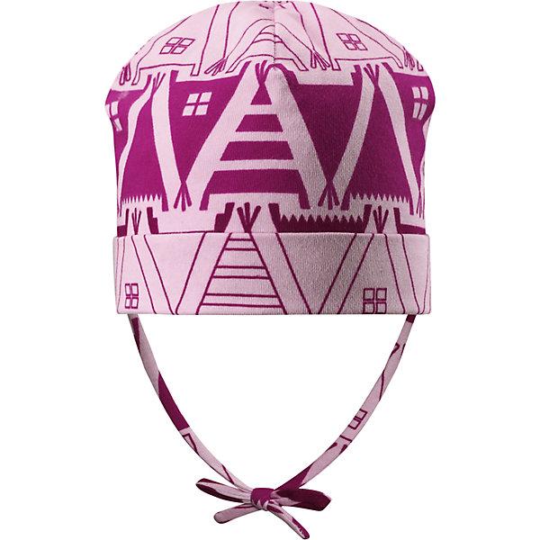 Шапка Reima Vasa для девочкиШапки и шарфы<br>Характеристики товара:<br><br>• цвет: розовый;<br>• состав: 61% хлопок, 33% полиэстер, 6% эластан;<br>• подкладка: 97% хлопок, 3% эластан;<br>• температурный режим: от 0 до +10С;<br>• сезон: демисезон; <br>• особенности модели: на подкладке, на завязках;<br>• быстросохнущий материал Play jersey, приятный на ощупь;<br>• сплошная подкладка: мягкий трикотаж;<br>• выводит влагу наружу;<br>• шапка на завязках, декорирована рисунком;<br>• фактор защиты от ультрафиолета 40+<br>• сплошная подкладка: материал Play jersey<br>• логотип Reima сбоку;<br>• страна бренда: Финляндия;<br>• страна изготовитель: Китай.<br><br>Удобная и быстросохнущая детская шапка на завязках из хлопка – идеальный вариант для межсезонья. Материал отводит влагу от кожи, а завязки плотно держат шапку на месте – эта шапка подойдет даже для очень активных детей. Имеет УФ-защиту 40+.<br><br>Шапка Vasa Reima от финского бренда Reima (Рейма) можно купить в нашем интернет-магазине.<br>Ширина мм: 89; Глубина мм: 117; Высота мм: 44; Вес г: 155; Цвет: розовый; Возраст от месяцев: 60; Возраст до месяцев: 72; Пол: Женский; Возраст: Детский; Размер: 52,46,48,50; SKU: 6906928;