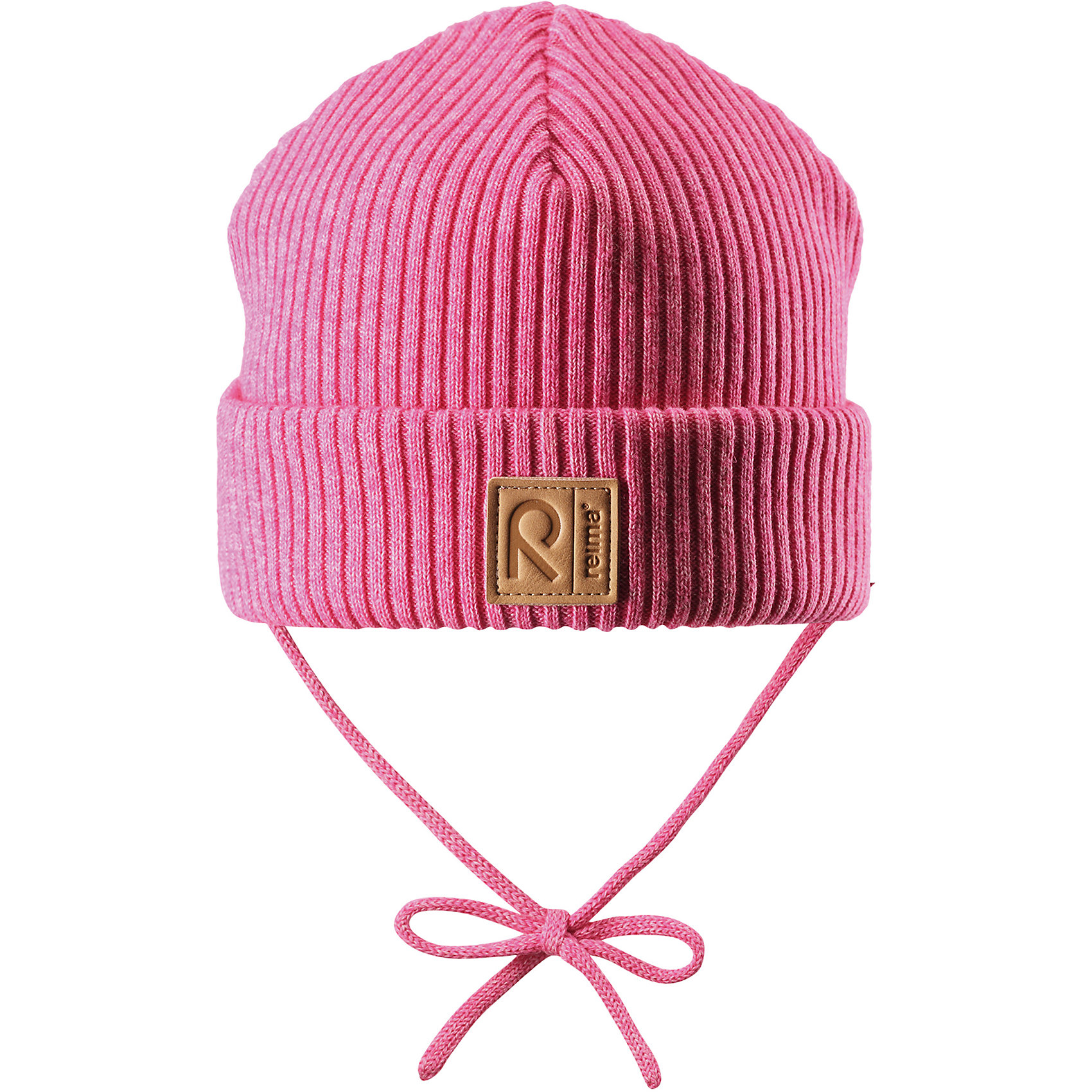 Шапка Reima KastanjaШапочки<br>Характеристики товара:<br><br>• цвет: розовый;<br>• состав: 85% хлопок, 15% шерсть;<br>• температурный режим: от 0 до +10С;<br>• сезон: демисезон; <br>• особенности модели: вязаная, на завязках;<br>• специальный материал обеспечивает дополнительный комфорт<br>• мягкий и удобный трикотаж из смеси хлопка и шерсти<br>• ветронепроницаемые вставки в области ушей<br>• логотип Reima спереди;<br>• страна бренда: Финляндия;<br>• страна изготовитель: Китай.<br><br>Вязаная шапка на завязках для малышей, которая идеально подойдет для ветреной осенней погоды. Шапка сшита из хлопка и шерсти, благодаря плотному материалу и ветронепроницаемым вставкам она надежно защищает кроху от ветра. <br><br>Шапка Kastanja Reima от финского бренда Reima (Рейма) можно купить в нашем интернет-магазине.<br><br>Ширина мм: 89<br>Глубина мм: 117<br>Высота мм: 44<br>Вес г: 155<br>Цвет: розовый<br>Возраст от месяцев: 36<br>Возраст до месяцев: 48<br>Пол: Унисекс<br>Возраст: Детский<br>Размер: 50-52,46-48<br>SKU: 6906946