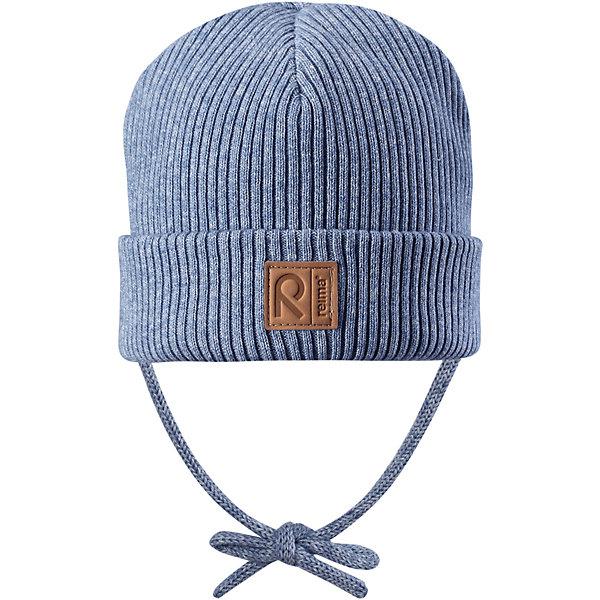 Шапка Reima KastanjaШапки и шарфы<br>Характеристики товара:<br><br>• цвет: голубой;<br>• состав: 85% хлопок, 15% шерсть;<br>• температурный режим: от 0 до +10С;<br>• сезон: демисезон; <br>• особенности модели: вязаная, на завязках;<br>• специальный материал обеспечивает дополнительный комфорт<br>• мягкий и удобный трикотаж из смеси хлопка и шерсти<br>• ветронепроницаемые вставки в области ушей<br>• логотип Reima спереди;<br>• страна бренда: Финляндия;<br>• страна изготовитель: Китай.<br><br>Вязаная шапка на завязках для малышей, которая идеально подойдет для ветреной осенней погоды. Шапка сшита из хлопка и шерсти, благодаря плотному материалу и ветронепроницаемым вставкам она надежно защищает кроху от ветра. <br><br>Шапка Kastanja Reima от финского бренда Reima (Рейма) можно купить в нашем интернет-магазине.<br><br>Ширина мм: 89<br>Глубина мм: 117<br>Высота мм: 44<br>Вес г: 155<br>Цвет: синий<br>Возраст от месяцев: 9<br>Возраст до месяцев: 12<br>Пол: Унисекс<br>Возраст: Детский<br>Размер: 46-48,50-52<br>SKU: 6906949
