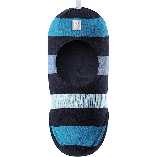 Шапка-шлем Reima Starrie для мальчикаШапки и шарфы<br>Характеристики товара:<br><br>• цвет: синий/голубой;<br>• состав: 100% шерсть;<br>• подкладка: 97% хлопок, 3% эластан<br>• температурный режим: от 0 до -20С;<br>• сезон: зима; <br>• особенности модели: вязаная, на подкладке;<br>• мягкая ткань из мериносовой шерсти для поддержания идеальной температуры тела;<br>• сплошная подкладка: хлопковый трикотаж с эластаном;<br>• ветронепроницаемые вставки в области ушей;<br>• светоотражающая эмблема;<br>• логотип Reima спереди;<br>• страна бренда: Финляндия;<br>• страна изготовитель: Китай.<br><br>Вязаная шапка-шлем в полоску из коллекции Reima® Originals защищает голову малыша в холодную пору. Эта шапка-шлем для малышей и детей постарше связана из теплой шерсти и подшита мягкой на ощупь подкладкой из смеси хлопка и эластана, которая удобно облегает голову.<br><br>Ветронепроницаемые вставки в области ушей, вшитые между подкладкой и верхним слоем, защищают ушки от холодного ветра. Эта классическая модель хорошо закрывает лоб, щечки и шею. <br><br>Шапка-шлем Reima Starrie от финского бренда Reima (Рейма) можно купить в нашем интернет-магазине.<br>Ширина мм: 89; Глубина мм: 117; Высота мм: 44; Вес г: 155; Цвет: синий; Возраст от месяцев: 9; Возраст до месяцев: 12; Пол: Мужской; Возраст: Детский; Размер: 46,54,52,50,48; SKU: 6907000;