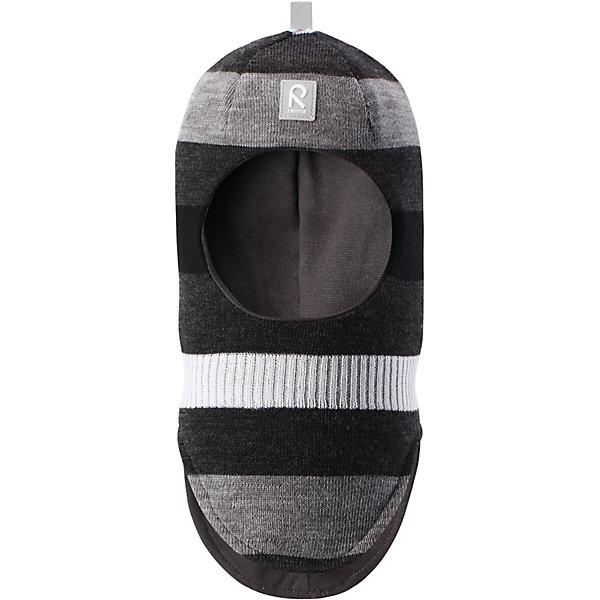 Шапка-шлем Reima StarrieШапки и шарфы<br>Характеристики товара:<br><br>• цвет: черный/серый;<br>• состав: 100% шерсть;<br>• подкладка: 97% хлопок, 3% эластан<br>• температурный режим: от 0 до -20С;<br>• сезон: зима; <br>• особенности модели: вязаная, на подкладке;<br>• мягкая ткань из мериносовой шерсти для поддержания идеальной температуры тела;<br>• сплошная подкладка: хлопковый трикотаж с эластаном;<br>• ветронепроницаемые вставки в области ушей;<br>• светоотражающая эмблема;<br>• логотип Reima спереди;<br>• страна бренда: Финляндия;<br>• страна изготовитель: Китай.<br><br>Вязаная шапка-шлем в полоску из коллекции Reima® Originals защищает голову малыша в холодную пору. Эта шапка-шлем для малышей и детей постарше связана из теплой шерсти и подшита мягкой на ощупь подкладкой из смеси хлопка и эластана, которая удобно облегает голову.<br><br>Ветронепроницаемые вставки в области ушей, вшитые между подкладкой и верхним слоем, защищают ушки от холодного ветра. Эта классическая модель хорошо закрывает лоб, щечки и шею. <br><br>Шапка-шлем Reima Starrie от финского бренда Reima (Рейма) можно купить в нашем интернет-магазине.<br><br>Ширина мм: 89<br>Глубина мм: 117<br>Высота мм: 44<br>Вес г: 155<br>Цвет: синий<br>Возраст от месяцев: 9<br>Возраст до месяцев: 12<br>Пол: Унисекс<br>Возраст: Детский<br>Размер: 46,54,52,50,48<br>SKU: 6907012
