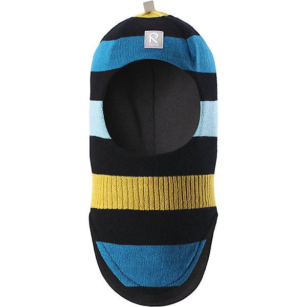 Шапка-шлем Reima Starrie для мальчикаШапки и шарфы<br>Характеристики товара:<br><br>• цвет: синийй;<br>• состав: 100% шерсть;<br>• подкладка: 97% хлопок, 3% эластан<br>• температурный режим: от 0 до -20С;<br>• сезон: зима; <br>• особенности модели: вязаная, на подкладке;<br>• мягкая ткань из мериносовой шерсти для поддержания идеальной температуры тела;<br>• сплошная подкладка: хлопковый трикотаж с эластаном;<br>• ветронепроницаемые вставки в области ушей;<br>• светоотражающая эмблема;<br>• логотип Reima спереди;<br>• страна бренда: Финляндия;<br>• страна изготовитель: Китай.<br><br>Вязаная шапка-шлем в полоску из коллекции Reima® Originals защищает голову малыша в холодную пору. Эта шапка-шлем для малышей и детей постарше связана из теплой шерсти и подшита мягкой на ощупь подкладкой из смеси хлопка и эластана, которая удобно облегает голову.<br><br>Ветронепроницаемые вставки в области ушей, вшитые между подкладкой и верхним слоем, защищают ушки от холодного ветра. Эта классическая модель хорошо закрывает лоб, щечки и шею. <br><br>Шапка-шлем Reima Starrie от финского бренда Reima (Рейма) можно купить в нашем интернет-магазине.<br><br>Ширина мм: 89<br>Глубина мм: 117<br>Высота мм: 44<br>Вес г: 155<br>Цвет: черный/желтый<br>Возраст от месяцев: 9<br>Возраст до месяцев: 12<br>Пол: Мужской<br>Возраст: Детский<br>Размер: 46,54,52,50,48<br>SKU: 6907018
