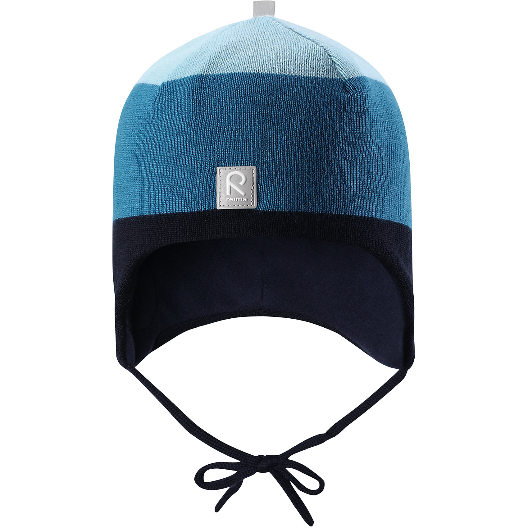 Шапка Reima AuvaШапочки<br>Характеристики товара:<br><br>• цвет: синий/голубой;<br>• состав: 100% шерсть;<br>• подкладка: 100% полиэстер, флис;<br>• температурный режим: от 0 до -20С;<br>• сезон: зима; <br>• особенности модели: вязаная, на подкладке, на завязках;<br>• мягкая ткань из мериносовой шерсти для поддержания идеальной температуры тела;<br>• сплошная подкладка: мягкий флис;<br>• ветронепроницаемые вставки в области ушей;<br>• светоотражающая эмблема;<br>• логотип Reima спереди;<br>• страна бренда: Финляндия;<br>• страна изготовитель: Китай.<br><br>Вязаная шапка на завязках для малышей из мериносовой шерсти подарит уют в морозную погоду: мягкая подкладка из флиса обеспечит ребенку тепло и комфорт. Шерстяная шапка с флисовой подкладкой идеально подходит для маленьких любителей приключений на свежем воздухе, ведь флис быстро сохнет и выводит влагу. <br><br>За счет эластичной вязки шапка отлично сидит, а ветронепроницаемые вставки в области ушей защищают ушки от холодного ветра. Благодаря завязкам эта стильная шапка не съезжает и хорошо защищает голову. Создайте стильный теплый образ: сочетайте шапку с горловиной Star.<br><br>Шапка Auva Reima от финского бренда Reima (Рейма) можно купить в нашем интернет-магазине.<br><br>Ширина мм: 89<br>Глубина мм: 117<br>Высота мм: 44<br>Вес г: 155<br>Цвет: синий<br>Возраст от месяцев: 60<br>Возраст до месяцев: 72<br>Пол: Унисекс<br>Возраст: Детский<br>Размер: 52,46,48,50<br>SKU: 6907056