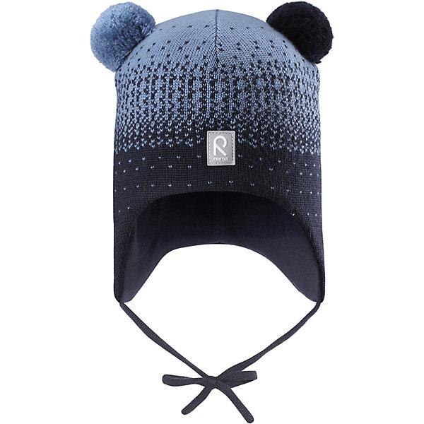 Шапка Reima SammalШапочки<br>Характеристики товара:<br><br>• цвет: синий;<br>• состав: 100% шерсть;<br>• подкладка: 97% хлопок, 3% эластан;<br>• температурный режим: от 0 до -20С;<br>• сезон: зима; <br>• особенности модели: вязаная, шерстяная;<br>• мягкая ткань из мериносовой шерсти для поддержания идеальной температуры;<br>• ветронепроницаемые вставки в области ушей;<br>• сплошная подкладка: гладкий хлопковый трикотаж;<br>• шапка на завязках, сверху два милых помпона;<br>• логотип Reima спереди;<br>• страна бренда: Финляндия;<br>• страна изготовитель: Китай.<br><br>Шерстяная шапка для малышей в восхитительных расцветках надежно согреет в холодный зимний день! Эта шапка для малышей из мериносовой шерсти подарит уют в морозную погоду: мягкая хлопковая подкладка обеспечит ребенку тепло и комфорт. За счет эластичной вязки шапка отлично сидит, а ветронепроницаемые вставки в области ушей защищают ушки от холодного ветра. Благодаря завязкам, эта стильная шапка не съезжает и хорошо защищает голову. Симпатичные помпоны на макушке довершает образ!<br><br>Шапку Sammal Reima от финского бренда Reima (Рейма) можно купить в нашем интернет-магазине.<br><br>Ширина мм: 89<br>Глубина мм: 117<br>Высота мм: 44<br>Вес г: 155<br>Цвет: синий<br>Возраст от месяцев: 9<br>Возраст до месяцев: 12<br>Пол: Унисекс<br>Возраст: Детский<br>Размер: 46,52,50,48<br>SKU: 6907101