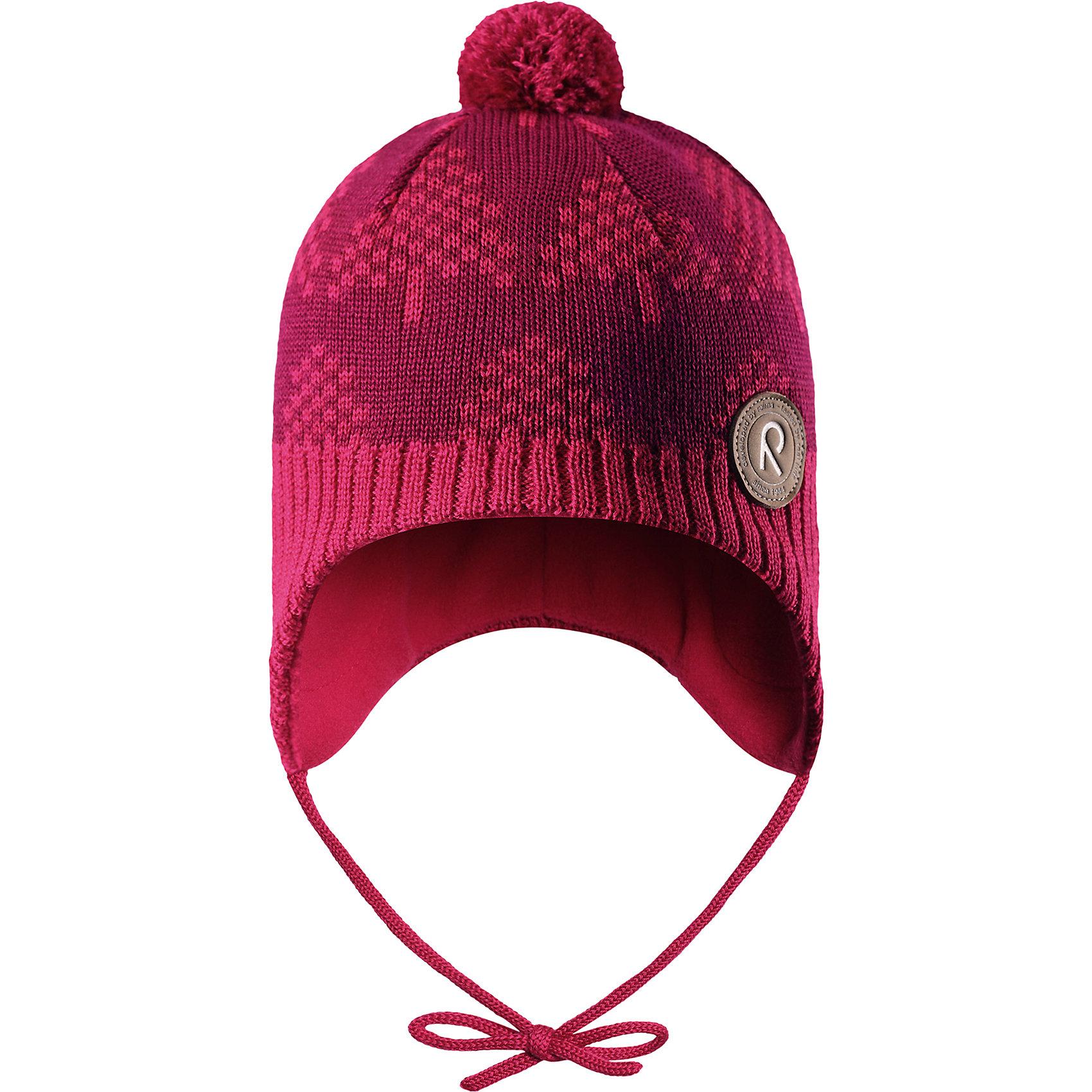 Шапка Reima Yll?sГоловные уборы<br>Характеристики товара:<br><br>• цвет: розовый;<br>• состав: 50% шерсть, 50% полиакрил;<br>• подкладка: 100% полиэстер, флис;<br>• температурный режим: от 0 до -20С;<br>• сезон: зима; <br>• особенности модели: вязаная, шерстяная;<br>• шерсть идеально поддерживает температуру;<br>• ветронепроницаемые вставки в области ушей;<br>• сплошная подкладка: мягкий теплый флис;<br>• шапка на завязках, сверху помпон;<br>• логотип Reima спереди;<br>• страна бренда: Финляндия;<br>• страна изготовитель: Китай.<br><br>Шерстяная шапка для малышей с чудесным рисунком надежно согреет в холодный зимний день! Эта шапка для малышей из мериносовой шерсти подарит уют в морозную погоду: мягкая флисовая подкладка обеспечит ребенку тепло и комфорт. За счет эластичной вязки шапка отлично сидит, а ветронепроницаемые вставки в области ушей защищают ушки от холодного ветра. Благодаря завязкам, эта стильная шапка не съезжает и хорошо защищает голову. Маленький помпон на макушке довершает образ.<br><br>Шапку Yll?s Reima от финского бренда Reima (Рейма) можно купить в нашем интернет-магазине.<br><br>Ширина мм: 89<br>Глубина мм: 117<br>Высота мм: 44<br>Вес г: 155<br>Цвет: розовый<br>Возраст от месяцев: 60<br>Возраст до месяцев: 72<br>Пол: Унисекс<br>Возраст: Детский<br>Размер: 52,46,48,50<br>SKU: 6907146