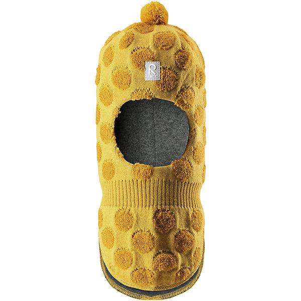Шапка-шлем Reima SallaШапки и шарфы<br>Характеристики товара:<br><br>• цвет: желтый;<br>• состав: 50% шерсть, 50% полиакрил;<br>• подкладка: 97% хлопок, 3% эластан;<br>• температурный режим: от 0 до -20С;<br>• сезон: зима; <br>• особенности модели: вязаная, шерстяная;<br>• шерсть идеально поддерживает температуру;<br>• ветронепроницаемые вставки в области ушей;<br>• сплошная подкладка: гладкий хлопковый трикотаж;<br>• декоративный помпон сверху;<br>• логотип Reima спереди;<br>• страна бренда: Финляндия;<br>• страна изготовитель: Китай.<br><br>Веселая шерстяная шапка-шлем с хлопковой подкладкой согреет в холода, а ветронепроницаемые вставки защитят ушки от ветра. Маленький помпон и симпатичный рисунок в шарики отлично подойдет маленьким любителям прогулок на свежем воздухе!<br><br>Шапку-шлем Salla Reima от финского бренда Reima (Рейма) можно купить в нашем интернет-магазине.<br><br>Ширина мм: 89<br>Глубина мм: 117<br>Высота мм: 44<br>Вес г: 155<br>Цвет: желтый<br>Возраст от месяцев: 60<br>Возраст до месяцев: 72<br>Пол: Унисекс<br>Возраст: Детский<br>Размер: 48,52,46,50<br>SKU: 6907161