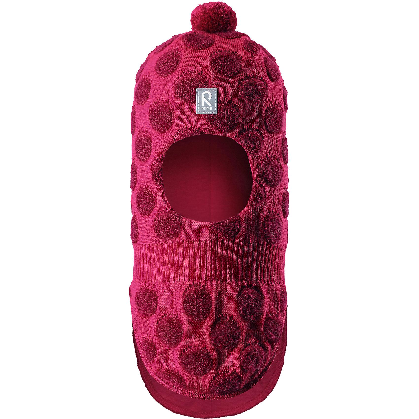 Шапка Salla ReimaГоловные уборы<br>Веселая шерстяная шапка-шлем для малышей с хлопковой подкладкой согреет в холода, а ветронепроницаемые вставки защитят ушки от ветра. Маленький помпон и симпатичный рисунок в шарики отлично подойдет маленьким любителям прогулок на свежем воздухе!<br>Состав:<br>50% Шерсть, 50% Полиакрил<br><br>Ширина мм: 89<br>Глубина мм: 117<br>Высота мм: 44<br>Вес г: 155<br>Цвет: розовый<br>Возраст от месяцев: 60<br>Возраст до месяцев: 72<br>Пол: Унисекс<br>Возраст: Детский<br>Размер: 52,46,48,50<br>SKU: 6907166