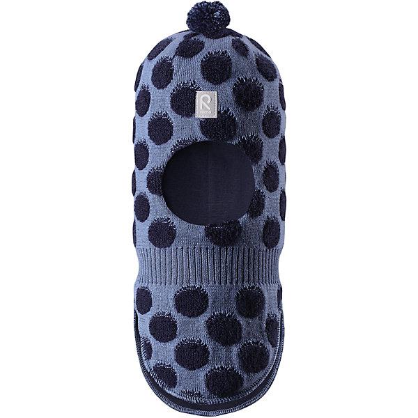 Шапка-шлем Reima Salla для мальчикаШапки и шарфы<br>Характеристики товара:<br><br>• цвет: синий;<br>• состав: 50% шерсть, 50% полиакрил;<br>• подкладка: 97% хлопок, 3% эластан;<br>• температурный режим: от 0 до -20С;<br>• сезон: зима; <br>• особенности модели: вязаная, шерстяная;<br>• шерсть идеально поддерживает температуру;<br>• ветронепроницаемые вставки в области ушей;<br>• сплошная подкладка: гладкий хлопковый трикотаж;<br>• декоративный помпон сверху;<br>• логотип Reima спереди;<br>• страна бренда: Финляндия;<br>• страна изготовитель: Китай.<br><br>Веселая шерстяная шапка-шлем с хлопковой подкладкой согреет в холода, а ветронепроницаемые вставки защитят ушки от ветра. Маленький помпон и симпатичный рисунок в шарики отлично подойдет маленьким любителям прогулок на свежем воздухе!<br><br>Шапку-шлем Salla Reima от финского бренда Reima (Рейма) можно купить в нашем интернет-магазине.<br><br>Ширина мм: 89<br>Глубина мм: 117<br>Высота мм: 44<br>Вес г: 155<br>Цвет: синий<br>Возраст от месяцев: 9<br>Возраст до месяцев: 12<br>Пол: Мужской<br>Возраст: Детский<br>Размер: 46,52,50,48<br>SKU: 6907171