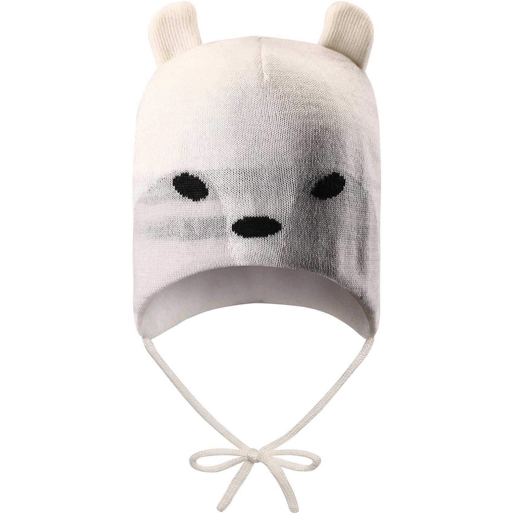 Шапка Hukkanen ReimaШапки и шарфы<br>Два в одном – красиво и тепло! Эта шапка для малышей из мягкой полушерсти с флисовой подкладкой надежно согреет в холодные зимние дни. Флис – очень приятный на ощупь материал, отводящий влагу с кожи.  Ветронепроницаемые вставки защищают ушки от ветра, а завязки не дадут шапке сбиваться. А какой у вас любимый мультяшный зверек?<br>Состав:<br>50% Шерсть, 50% Полиакрил<br><br>Ширина мм: 89<br>Глубина мм: 117<br>Высота мм: 44<br>Вес г: 155<br>Цвет: белый<br>Возраст от месяцев: 60<br>Возраст до месяцев: 72<br>Пол: Унисекс<br>Возраст: Детский<br>Размер: 52,46,48,50<br>SKU: 6907181