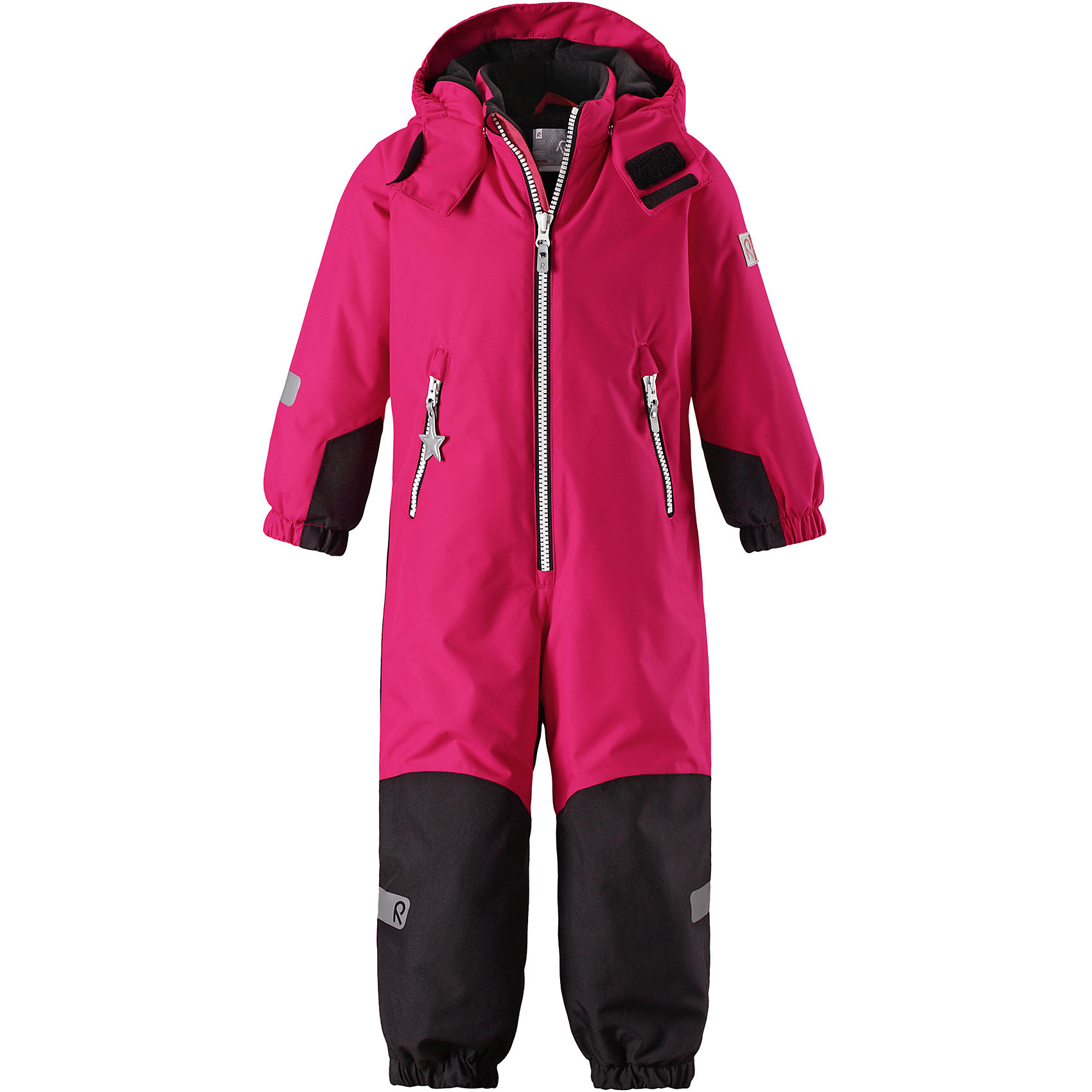Комбинезон Reimatec® Reima FinnОдежда<br>Характеристики товара:<br><br>• цвет: розовый;<br>• состав: 100% полиэстер;<br>• подкладка: 100% полиэстер;<br>• утеплитель: 160 г/м2<br>• температурный режим: от 0 до -20С;<br>• сезон: зима; <br>• водонепроницаемость: 8000/10000 мм;<br>• воздухопроницаемость: 7000/5000 мм;<br>• износостойкость: 30000/50000 циклов (тест Мартиндейла);<br>• водо- и ветронепроницаемый, дышащий и грязеотталкивающий материал;<br>• все швы проклеены и водонепроницаемы;<br>• прочные усиленные вставки внизу, на коленях и снизу на ногах;<br>• гладкая подкладка из полиэстера;<br>• мягкая резинка на кромке капюшона и манжетах;<br>• застежка: молния с защитой подбородка;<br>• безопасный съемный капюшон на кнопках;<br>• внутренняя регулировка обхвата талии;<br>• прочные съемные силиконовые штрипки;<br>• два кармана на молнии;<br>• светоотражающие детали;<br>• страна бренда: Финляндия;<br>• страна изготовитель: Китай.<br><br>Зимний комбинезон Reimatec® Kiddo изготовлен из водо и ветронепроницаемого материала с водо и грязеотталкивающей поверхностью. Все швы проклеены, водонепроницаемы. В комбинезоне предусмотрены прочные усиления на задней части, коленях и концах брючин. В этом комбинезоне прямого кроя талия при необходимости легко регулируется, что позволяет подогнать его точно по фигуре. <br><br>Съемный капюшон защищает от пронизывающего ветра, а еще он безопасен во время игр на свежем воздухе. Кнопки легко отстегиваются, если капюшон случайно за что-нибудь зацепится. Силиконовые штрипки не дают концам брючин задираться, бегай сколько хочешь! Образ довершает мягкая резинка по краю капюшона и на манжетах, два кармана на молнии и светоотражающие детали.<br><br>Комбинезон Finn Reimatec® Reima от финского бренда Reima (Рейма) можно купить в нашем интернет-магазине.<br><br>Ширина мм: 356<br>Глубина мм: 10<br>Высота мм: 245<br>Вес г: 519<br>Цвет: розовый<br>Возраст от месяцев: 18<br>Возраст до месяцев: 24<br>Пол: Унисекс<br>Возраст: Детский<br>Размер: 92,140,1