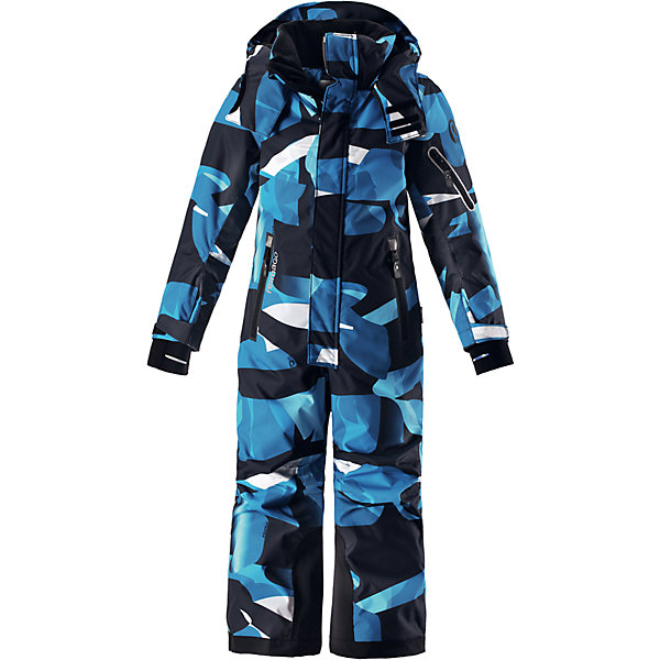 Комбинезон Reimatec® Reima Reach для мальчикаОдежда<br>Характеристики товара:<br><br>• цвет: синий<br>• состав: 100% полиэстер;<br>• подкладка: 100% полиэстер;<br>• утеплитель: 140 г/м2<br>• температурный режим: от 0 до -20С;<br>• сезон: зима; <br>• водонепроницаемость: 15000/12000 мм;<br>• воздухопроницаемость: 8000/7000 мм;<br>• износостойкость: 35000/80000 циклов (тест Мартиндейла);<br>• водо- и ветронепроницаемый, дышащий и грязеотталкивающий материал;<br>• прочные усиленные вставки внизу брючин;<br>• все швы проклеены и водонепроницаемы;<br>• гладкая подкладка из полиэстера;<br>• эластичные манжеты;<br>• застежка: молния с защитой подбородка;<br>• безопасный съемный и регулируемый капюшон на кнопках;<br>• регулируемые манжеты и внутренние манжеты из лайкры;<br>• регулируемый обхват талии;<br>• снегозащитные манжеты на штанинах;<br>• карманы на молнии, карман slipass на рукаве;<br>• кармана с креплением для сенсора ReimaGO®;<br>• светоотражающие детали;<br>• страна бренда: Финляндия;<br>• страна изготовитель: Китай.<br><br>Абсолютно непромокаемый и прочный детский зимний комбинезон Reimatec® с полностью проклеенными швами. Сверхпрочные усиления на концах брючин. Этот практичный комбинезон изготовлен из ветронепроницаемого и дышащего материала, поэтому вашему ребенку будет тепло и сухо, к тому же он не вспотеет. Комбинезон снабжен гладкой подкладкой из полиэстера. <br><br>В этом комбинезоне прямого кроя талия при необходимости легко регулируется, что позволяет подогнать комбинезон точно по фигуре. Кроме того, он снабжен регулируемыми манжетами и внутренними манжетами из лайкры. Съемный и регулируемый капюшон защищает от пронизывающего ветра, а еще он безопасен во время игр на свежем воздухе. Кнопки легко отстегиваются, если капюшон случайно за что-нибудь зацепится. <br><br>Два кармана на молнии, карман для лыжной карты и специальный карман для сенсора ReimaGO®. Материал имеет грязеотталкивающую поверхность, и при этом его можно сушить в сушильной машине. Светоотр