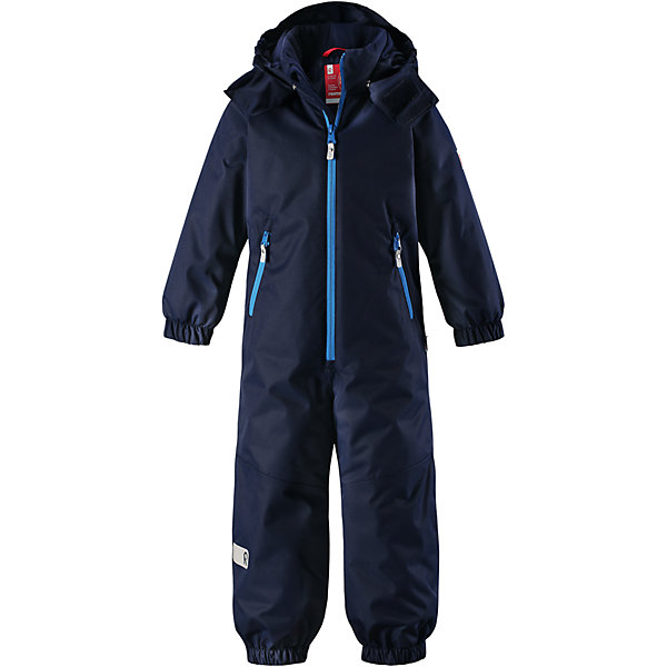Комбинезон Reima Reissu для мальчикаОдежда<br>Характеристики товара:<br><br>• цвет: синий;<br>• состав: 100% полиэстер;<br>• подкладка: 100% полиэстер;<br>• утеплитель: 160 г/м2<br>• температурный режим: от 0 до -20С;<br>• сезон: зима; <br>• водонепроницаемость: 5000 мм;<br>• воздухопроницаемость: 5000 мм;<br>• износостойкость: 30000 циклов (тест Мартиндейла);<br>• водо- и ветронепроницаемый, дышащий и грязеотталкивающий материал;<br>• прочные усиленные вставки внизу, на коленях и снизу на ногах;<br>• основные швы проклеены и не пропускают влагу;<br>• гладкая подкладка из полиэстера;<br>• эластичные манжеты;<br>• застежка: молния с защитой подбородка;<br>• безопасный съемный капюшон на кнопках;<br>• внутренняя регулировка обхвата талии;<br>• регулируемая длина брюк с помощью кнопок;<br>• прочные съемные силиконовые штрипки;<br>• два кармана на молнии;<br>• светоотражающие детали;<br>• страна бренда: Финляндия;<br>• страна изготовитель: Китай.<br><br>Непромокаемый и прочный детский зимний комбинезон Reimatec® с проклеенными основными швами. Этот практичный комбинезон изготовлен из ветронепроницаемого и дышащего материала, поэтому вашему ребенку будет тепло и сухо, к тому же он не вспотеет. Комбинезон снабжен гладкой подкладкой из полиэстера. <br><br>В этом комбинезоне прямого кроя талия при необходимости легко регулируется изнутри, что позволяет подогнать комбинезон точно по фигуре. А еще он снабжен эластичными манжетами. Съемный капюшон защищает от пронизывающего ветра, а еще он безопасен во время игр на свежем воздухе. Кнопки легко отстегиваются, если капюшон случайно за что-нибудь зацепится. Этот практичный комбинезон снабжен съемными штрипками и двумя карманами на молнии. Светоотражающие детали довершают образ.<br><br>Комбинезон Reissu Reima от финского бренда Reima (Рейма) можно купить в нашем интернет-магазине.<br><br>Ширина мм: 356<br>Глубина мм: 10<br>Высота мм: 245<br>Вес г: 519<br>Цвет: синий<br>Возраст от месяцев: 18<br>Возраст до месяцев: 24<br>Пол: Мужск