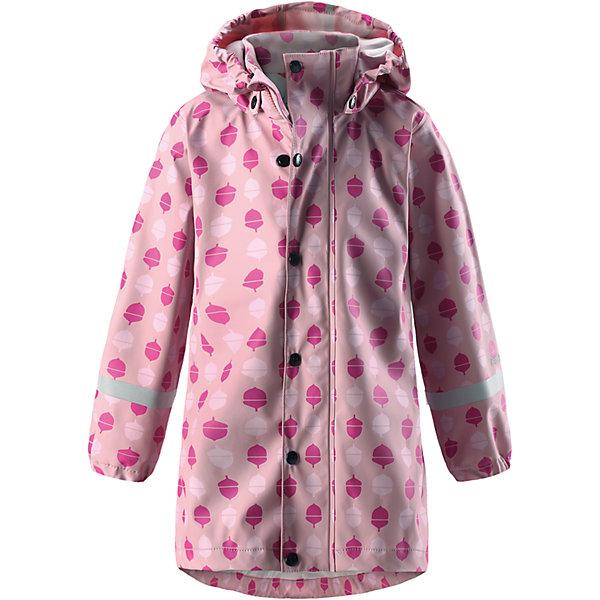 Плащ-дождевик Reima Vatten для девочкиОдежда<br>Характеристики товара:<br><br>• цвет: светло-розовый;<br>• состав: 100% полиэстер;<br>• подкладка: 100% полиэстер;<br>• утеплитель: 160 г/м2<br>• температурный режим: от +15 до -15С;<br>• сезон: демисезон; <br>• запаянные швы, не пропускающие влагу;<br>• эластичный материал;<br>• без ПВХ;<br>• гладкая подкладка из полиэстера;<br>• эластичные манжеты;<br>• застежка: молния с дополнительной планкой на кнопках;<br>• безопасный съемный капюшон;<br>• трапециевидная форма с удлиненным сзади подолом;<br>• светоотражающие детали;<br>• страна бренда: Финляндия;<br>• страна изготовитель: Китай.<br><br>Куртка-дождевик изготовлена из удобного, эластичного материала, не содержащего ПВХ. Швы запаяны и абсолютно водонепроницаемы. Новый трапециевидный силуэт с удлиненной спинкой обеспечивает эффективную защиту от дождя. <br>Куртка-дождевик не деревенеет на морозе, поэтому ее можно носить круглый год – просто добавьте в холодную погоду теплый промежуточный слой. Съемный капюшон защитит даже от ливня, при этом он безопасен во время прогулок в дождливый день. Молния спереди во всю длину и множество светоотражающих деталей.<br><br><br>Плащ-дождевик Vatten для девочки Reima от финского бренда Reima (Рейма) можно купить в нашем интернет-магазине.<br><br>Ширина мм: 356<br>Глубина мм: 10<br>Высота мм: 245<br>Вес г: 519<br>Цвет: розовый<br>Возраст от месяцев: 84<br>Возраст до месяцев: 96<br>Пол: Женский<br>Возраст: Детский<br>Размер: 128,122,116,110,104,140,134<br>SKU: 6907712