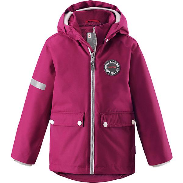 Куртка Taag Reimatec® Reima для девочкиОдежда<br>Характеристики товара:<br><br>• цвет: фиолетовый;<br>• состав: 100% полиэстер;<br>• утеплитель: 140 г/м2;<br>• сезон: демисезон, зима;<br>• температурный режим: от +10 до -10С;<br>• водонепроницаемость: 10000 мм;<br>• воздухопроницаемость: 10000 мм;<br>• износостойкость: 30000 циклов (тест Мартиндейла);<br>• водо и ветронепроницаемый, дышащий и грязеотталкивающий материал;<br>• все швы проклеены и водонепроницаемы;<br>• безопасный съемный капюшон на кнопках;<br>• застежка: молния с защитой подбородка от защемления;<br>• съемная стеганая подкладка;<br>• мягкая резинка на кромке капюшона и манжетах;<br>• регулируемый подол;<br>• два накладных кармана на кнопках;<br>• логотип Reima® спереди;<br>• светоотражающие элементы;<br>• страна бренда: Финляндия;<br>• страна производства: Китай.<br><br>Демисезонная куртка с капюшоном, в ней дождь не страшен – все основные швы проклеены, водонепроницаемы. Куртка на молнии со съемной стеганой подкладкой – незаменимая вещь для осенней поры а когда похолодает, просто подденьте теплый промежуточный слой и куртка превратиться в отличный зимний вариант. <br><br>Подол в этой куртке прямого покроя легко регулируется, что позволяет подогнать ее идеально по фигуре. Большие карманы с клапанами и светоотражающие детали, вместе с мягкой резинкой на манжетах и по краю капюшона они придают образу изюминку.<br><br>Куртка Taag Reimatec® Reima (Рейма) можно купить в нашем интернет-магазине.<br>Ширина мм: 356; Глубина мм: 10; Высота мм: 245; Вес г: 519; Цвет: розовый; Возраст от месяцев: 108; Возраст до месяцев: 120; Пол: Женский; Возраст: Детский; Размер: 140,104,134,128,122,116,110; SKU: 6907736;