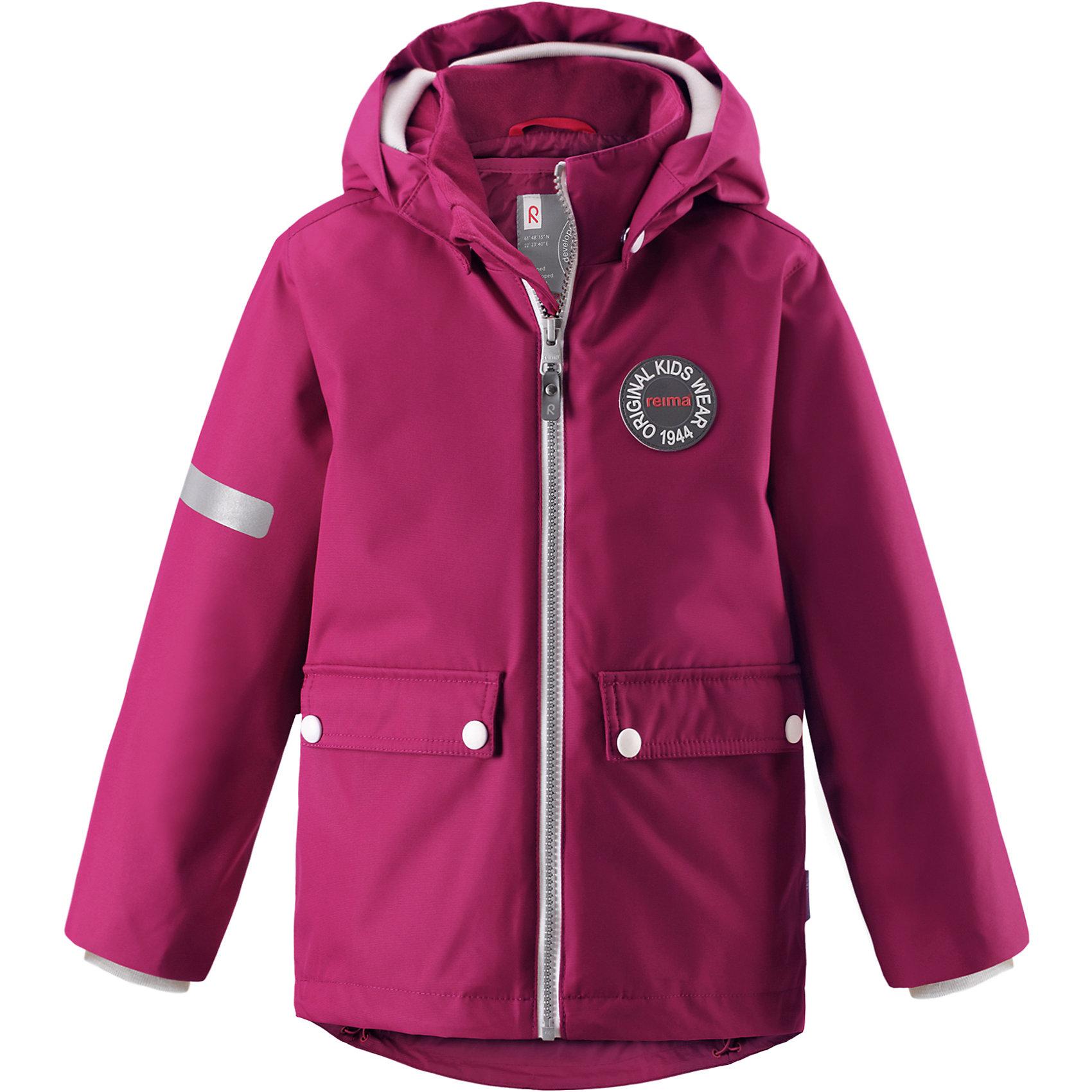 Куртка Taag Reimatec® ReimaВерхняя одежда<br>Характеристики товара:<br><br>• цвет: фиолетовый;<br>• состав: 100% полиэстер;<br>• утеплитель: 140 г/м2;<br>• сезон: демисезон, зима;<br>• температурный режим: от +10 до -10С;<br>• водонепроницаемость: 10000 мм;<br>• воздухопроницаемость: 10000 мм;<br>• износостойкость: 30000 циклов (тест Мартиндейла);<br>• водо и ветронепроницаемый, дышащий и грязеотталкивающий материал;<br>• все швы проклеены и водонепроницаемы;<br>• безопасный съемный капюшон на кнопках;<br>• застежка: молния с защитой подбородка от защемления;<br>• съемная стеганая подкладка;<br>• мягкая резинка на кромке капюшона и манжетах;<br>• регулируемый подол;<br>• два накладных кармана на кнопках;<br>• логотип Reima® спереди;<br>• светоотражающие элементы;<br>• страна бренда: Финляндия;<br>• страна производства: Китай.<br><br>Демисезонная куртка с капюшоном, в ней дождь не страшен – все основные швы проклеены, водонепроницаемы. Куртка на молнии со съемной стеганой подкладкой – незаменимая вещь для осенней поры а когда похолодает, просто подденьте теплый промежуточный слой и куртка превратиться в отличный зимний вариант. <br><br>Подол в этой куртке прямого покроя легко регулируется, что позволяет подогнать ее идеально по фигуре. Большие карманы с клапанами и светоотражающие детали, вместе с мягкой резинкой на манжетах и по краю капюшона они придают образу изюминку.<br><br>Куртка Taag Reimatec® Reima (Рейма) можно купить в нашем интернет-магазине.<br><br>Ширина мм: 356<br>Глубина мм: 10<br>Высота мм: 245<br>Вес г: 519<br>Цвет: розовый<br>Возраст от месяцев: 60<br>Возраст до месяцев: 72<br>Пол: Унисекс<br>Возраст: Детский<br>Размер: 116,110,122,128,134,140,104<br>SKU: 6907736