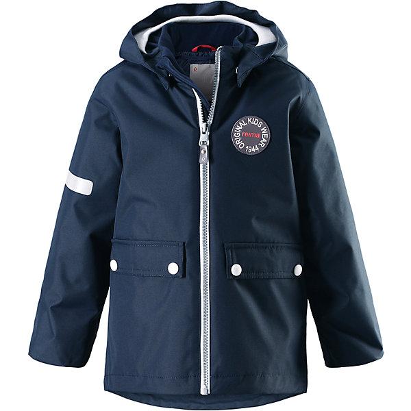Куртка Taag Reimatec® Reima для мальчикаОдежда<br>Характеристики товара:<br><br>• цвет: синий;<br>• состав: 100% полиэстер;<br>• утеплитель: 140 г/м2;<br>• сезон: демисезон, зима;<br>• температурный режим: от +10 до -10С;<br>• водонепроницаемость: 10000 мм;<br>• воздухопроницаемость: 10000 мм;<br>• износостойкость: 30000 циклов (тест Мартиндейла);<br>• водо и ветронепроницаемый, дышащий и грязеотталкивающий материал;<br>• все швы проклеены и водонепроницаемы;<br>• безопасный съемный капюшон на кнопках;<br>• застежка: молния с защитой подбородка от защемления;<br>• съемная стеганая подкладка;<br>• мягкая резинка на кромке капюшона и манжетах;<br>• регулируемый подол;<br>• два накладных кармана на кнопках;<br>• логотип Reima® спереди;<br>• светоотражающие элементы;<br>• страна бренда: Финляндия;<br>• страна производства: Китай.<br><br>Демисезонная куртка с капюшоном, в ней дождь не страшен – все основные швы проклеены, водонепроницаемы. Куртка на молнии со съемной стеганой подкладкой – незаменимая вещь для осенней поры а когда похолодает, просто подденьте теплый промежуточный слой и куртка превратиться в отличный зимний вариант. <br><br>Подол в этой куртке прямого покроя легко регулируется, что позволяет подогнать ее идеально по фигуре. Большие карманы с клапанами и светоотражающие детали, вместе с мягкой резинкой на манжетах и по краю капюшона они придают образу изюминку.<br><br>Куртка Taag Reimatec® Reima (Рейма) можно купить в нашем интернет-магазине.<br>Ширина мм: 356; Глубина мм: 10; Высота мм: 245; Вес г: 519; Цвет: синий; Возраст от месяцев: 36; Возраст до месяцев: 48; Пол: Мужской; Возраст: Детский; Размер: 104,140,134,128,122,116,110; SKU: 6907752;