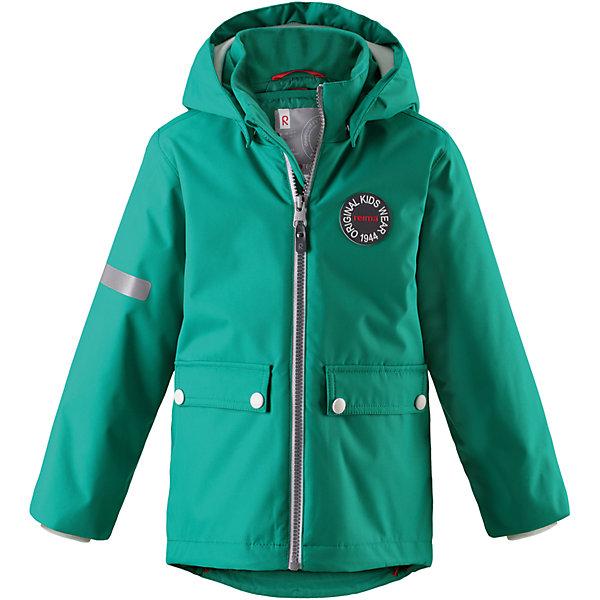 Куртка Taag Reimatec® ReimaВерхняя одежда<br>Характеристики товара:<br><br>• цвет: зеленый;<br>• состав: 100% полиэстер;<br>• утеплитель: 140 г/м2;<br>• сезон: демисезон, зима;<br>• температурный режим: от +10 до -10С;<br>• водонепроницаемость: 10000 мм;<br>• воздухопроницаемость: 10000 мм;<br>• износостойкость: 30000 циклов (тест Мартиндейла);<br>• водо и ветронепроницаемый, дышащий и грязеотталкивающий материал;<br>• все швы проклеены и водонепроницаемы;<br>• безопасный съемный капюшон на кнопках;<br>• застежка: молния с защитой подбородка от защемления;<br>• съемная стеганая подкладка;<br>• мягкая резинка на кромке капюшона и манжетах;<br>• регулируемый подол;<br>• два накладных кармана на кнопках;<br>• логотип Reima® спереди;<br>• светоотражающие элементы;<br>• страна бренда: Финляндия;<br>• страна производства: Китай.<br><br>Демисезонная куртка с капюшоном, в ней дождь не страшен – все основные швы проклеены, водонепроницаемы. Куртка на молнии со съемной стеганой подкладкой – незаменимая вещь для осенней поры а когда похолодает, просто подденьте теплый промежуточный слой и куртка превратиться в отличный зимний вариант. <br><br>Подол в этой куртке прямого покроя легко регулируется, что позволяет подогнать ее идеально по фигуре. Большие карманы с клапанами и светоотражающие детали, вместе с мягкой резинкой на манжетах и по краю капюшона они придают образу изюминку.<br><br>Куртка Taag Reimatec® Reima (Рейма) можно купить в нашем интернет-магазине.<br><br>Ширина мм: 356<br>Глубина мм: 10<br>Высота мм: 245<br>Вес г: 519<br>Цвет: зеленый<br>Возраст от месяцев: 108<br>Возраст до месяцев: 120<br>Пол: Унисекс<br>Возраст: Детский<br>Размер: 140,104,110,116,122,128,134<br>SKU: 6907760