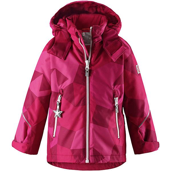 Куртка Grane Reimatec® ReimaОдежда<br>Характеристики товара:<br><br>• цвет: розовый;<br>• состав: 100% полиэстер;<br>• утеплитель: 160 г/м2;<br>• сезон: зима;<br>• температурный режим: от 0 до -20С;<br>• водонепроницаемость: 8000 мм;<br>• воздухопроницаемость: 7000 мм;<br>• износостойкость: 30000 циклов (тест Мартиндейла);<br>• водо и ветронепроницаемый, дышащий и грязеотталкивающий материал;<br>• все швы проклеены и водонепроницаемы;<br>• безопасный съемный капюшон на кнопках;<br>• застежка: молния с защитой подбородка от защемления;<br>• прочные усиленные вставки на рукавах и спинке;<br>• гладкая подкладка из полиэстера;<br>• регулируемые манжеты рукавов на липучке;<br>• регулируемый подол и талия;<br>• два кармана на молнии;<br>• логотип Reima® на рукаве и внизу спины;<br>• светоотражающие элементы;<br>• страна бренда: Финляндия;<br>• страна производства: Китай.<br><br>Сверхпрочная зимняя куртка Reimatec ® Kiddo. Куртка с капюшоном Reimatec ® Kiddo изготовлена из износостойкого, дышащего, водо и ветронепроницаемого материала с водо и грязеотталкивающей поверхностью. Все швы проклеены, водонепроницаемы. Рукава и спинка снабжены прочными усилениями, которые защищают участки, больше всего подверженные износу во время подвижных игр и катания на санках. <br><br>У куртки прямой покрой с регулируемой талией и подолом, так что силуэт можно сделать более облегающим. Концы рукавов тоже регулируются застежкой на липучке, как раз под ширину перчаток. Съемный капюшон защищает от холодного ветра, а еще обеспечивает дополнительную безопасность во время игр на улице. Куртка снабжена гладкой подкладкой из полиэстера, двумя карманами на молнии и светоотражателями.<br><br>Куртка Grane Reimatec® Reima можно купить в нашем интернет-магазине.<br><br>Ширина мм: 356<br>Глубина мм: 10<br>Высота мм: 245<br>Вес г: 519<br>Цвет: розовый<br>Возраст от месяцев: 36<br>Возраст до месяцев: 48<br>Пол: Унисекс<br>Возраст: Детский<br>Размер: 104,140,134,128,122,116,110<br>SKU: 6907768