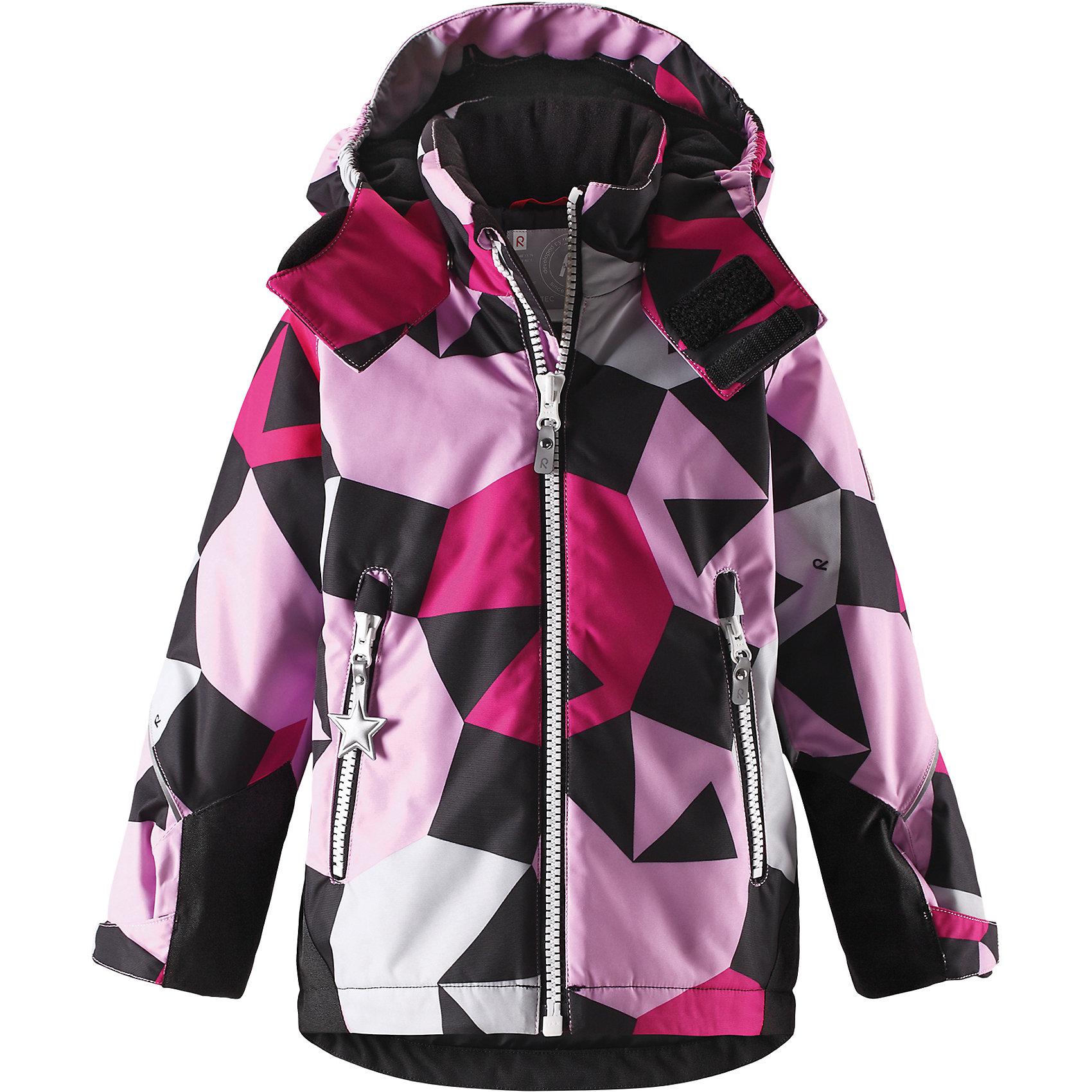 Куртка Grane Reimatec® ReimaОдежда<br>Характеристики товара:<br><br>• цвет: розовый принт;<br>• состав: 100% полиэстер;<br>• утеплитель: 160 г/м2;<br>• сезон: зима;<br>• температурный режим: от 0 до -20С;<br>• водонепроницаемость: 8000 мм;<br>• воздухопроницаемость: 7000 мм;<br>• износостойкость: 30000 циклов (тест Мартиндейла);<br>• водо и ветронепроницаемый, дышащий и грязеотталкивающий материал;<br>• все швы проклеены и водонепроницаемы;<br>• безопасный съемный капюшон на кнопках;<br>• застежка: молния с защитой подбородка от защемления;<br>• прочные усиленные вставки на рукавах и спинке;<br>• гладкая подкладка из полиэстера;<br>• регулируемые манжеты рукавов на липучке;<br>• регулируемый подол и талия;<br>• два кармана на молнии;<br>• логотип Reima® на рукаве и внизу спины;<br>• светоотражающие элементы;<br>• страна бренда: Финляндия;<br>• страна производства: Китай.<br><br>Сверхпрочная зимняя куртка Reimatec ® Kiddo. Куртка с капюшоном Reimatec ® Kiddo изготовлена из износостойкого, дышащего, водо и ветронепроницаемого материала с водо и грязеотталкивающей поверхностью. Все швы проклеены, водонепроницаемы. Рукава и спинка снабжены прочными усилениями, которые защищают участки, больше всего подверженные износу во время подвижных игр и катания на санках. <br><br>У куртки прямой покрой с регулируемой талией и подолом, так что силуэт можно сделать более облегающим. Концы рукавов тоже регулируются застежкой на липучке, как раз под ширину перчаток. Съемный капюшон защищает от холодного ветра, а еще обеспечивает дополнительную безопасность во время игр на улице. Куртка снабжена гладкой подкладкой из полиэстера, двумя карманами на молнии и светоотражателями.<br><br>Куртка Grane Reimatec® Reima можно купить в нашем интернет-магазине.<br><br>Ширина мм: 356<br>Глубина мм: 10<br>Высота мм: 245<br>Вес г: 519<br>Цвет: розовый<br>Возраст от месяцев: 108<br>Возраст до месяцев: 120<br>Пол: Унисекс<br>Возраст: Детский<br>Размер: 140,92,98,104,110,116,122,128,134<br>SKU: 6907776
