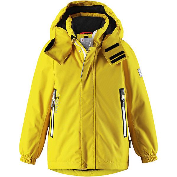 Куртка Chant Reimatec® ReimaВерхняя одежда<br>Характеристики товара:<br><br>• цвет: желтый;<br>• состав: 100% полиэстер;<br>• утеплитель: 160 г/м2;<br>• сезон: зима;<br>• температурный режим: от 0 до -20С;<br>• водонепроницаемость: 15000 мм;<br>• воздухопроницаемость: 7000 мм;<br>• износостойкость: 40000 циклов (тест Мартиндейла);<br>• водо и ветронепроницаемый, дышащий и грязеотталкивающий материал;<br>• все швы проклеены и водонепроницаемы;<br>• безопасный съемный  и регулируемый капюшон на кнопках;<br>• застежка: молния с дополнительной планкой на кнопках;<br>• защита подбородка от защемления;<br>• гладкая подкладка из полиэстера;<br>• эластичные манжеты;<br>• регулируемый подол;<br>• внутренний нагрудный карман;<br>• два кармана на молнии;<br>• карман с креплением для сенсора ReimaGO®;<br>• светоотражающие элементы;<br>• система кнопок Play Layers® к этой куртке можно присоединять одежду промежуточного слоя Reima®;<br>• страна бренда: Финляндия;<br>• страна производства: Китай.<br><br>Зимняя куртка Reimatec® изготовлена из водо и ветронепроницаемого, дышащего материала, который эффективно отталкивает грязь. Все швы проклеены, водонепроницаемы. В этой куртке прямого покроя подол при необходимости легко регулируется, что позволяет подогнать куртку точно по фигуре. <br><br>Съемный и регулируемый капюшон защищает от пронизывающего ветра и проливного дождя, а еще он безопасен во время игр на свежем воздухе. В куртке предусмотрены два кармана на молнии, внутренний нагрудный карман, карман для сенсора ReimaGO® и множество светоотражающих деталей. Эта куртка очень проста в уходе, кроме того, ее можно сушить в стиральной машине.<br><br>Куртка Chant Reimatec® Reima можно купить в нашем интернет-магазине.<br><br>Ширина мм: 356<br>Глубина мм: 10<br>Высота мм: 245<br>Вес г: 519<br>Цвет: желтый<br>Возраст от месяцев: 18<br>Возраст до месяцев: 24<br>Пол: Унисекс<br>Возраст: Детский<br>Размер: 92,140,134,128,122,116,110,104,98<br>SKU: 6907848