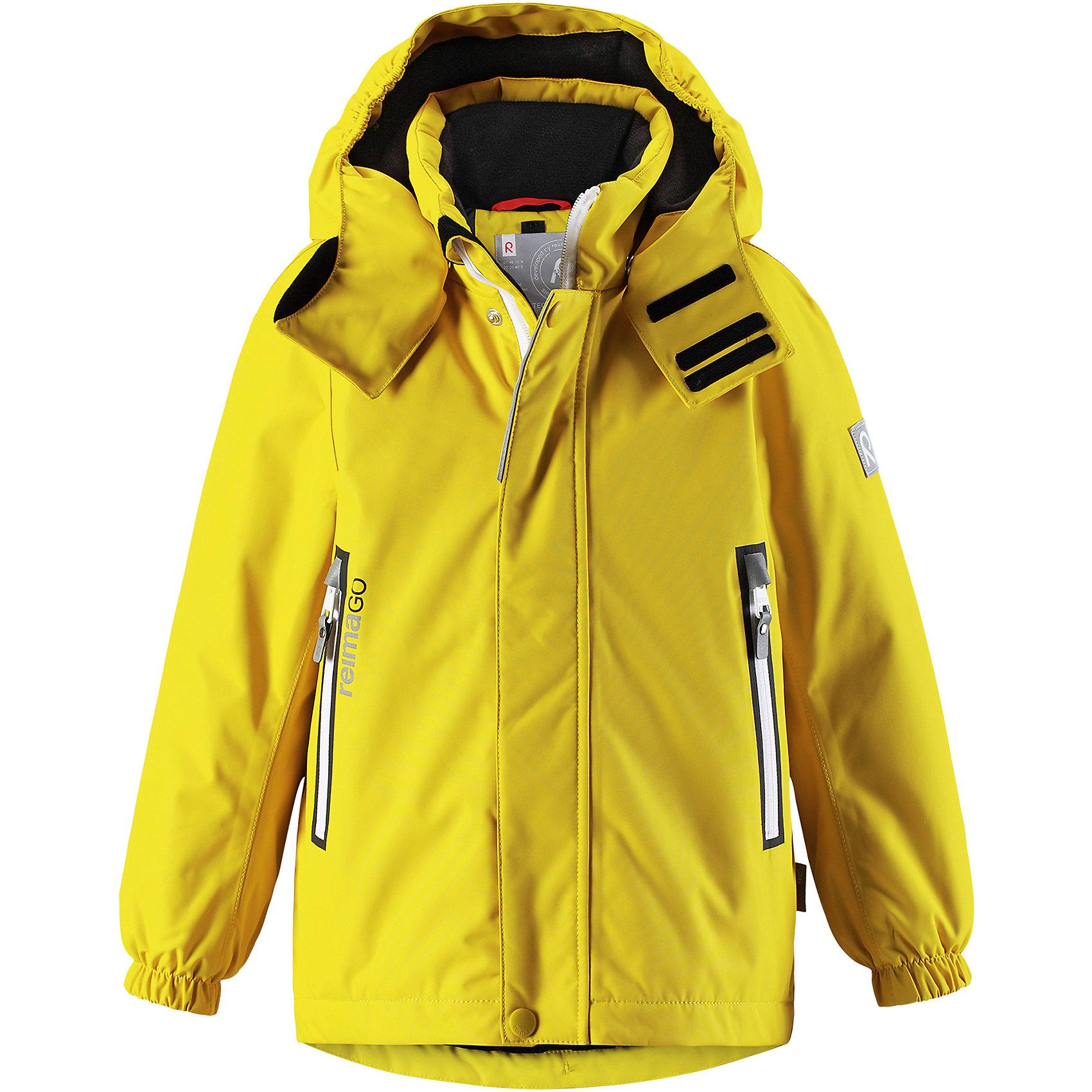 Куртка Chant Reimatec® ReimaЗимние куртки<br>Характеристики товара:<br><br>• цвет: желтый;<br>• состав: 100% полиэстер;<br>• утеплитель: 160 г/м2;<br>• сезон: зима;<br>• температурный режим: от 0 до -20С;<br>• водонепроницаемость: 15000 мм;<br>• воздухопроницаемость: 7000 мм;<br>• износостойкость: 40000 циклов (тест Мартиндейла);<br>• водо и ветронепроницаемый, дышащий и грязеотталкивающий материал;<br>• все швы проклеены и водонепроницаемы;<br>• безопасный съемный  и регулируемый капюшон на кнопках;<br>• застежка: молния с дополнительной планкой на кнопках;<br>• защита подбородка от защемления;<br>• гладкая подкладка из полиэстера;<br>• эластичные манжеты;<br>• регулируемый подол;<br>• внутренний нагрудный карман;<br>• два кармана на молнии;<br>• карман с креплением для сенсора ReimaGO®;<br>• светоотражающие элементы;<br>• система кнопок Play Layers® к этой куртке можно присоединять одежду промежуточного слоя Reima®;<br>• страна бренда: Финляндия;<br>• страна производства: Китай.<br><br>Зимняя куртка Reimatec® изготовлена из водо и ветронепроницаемого, дышащего материала, который эффективно отталкивает грязь. Все швы проклеены, водонепроницаемы. В этой куртке прямого покроя подол при необходимости легко регулируется, что позволяет подогнать куртку точно по фигуре. <br><br>Съемный и регулируемый капюшон защищает от пронизывающего ветра и проливного дождя, а еще он безопасен во время игр на свежем воздухе. В куртке предусмотрены два кармана на молнии, внутренний нагрудный карман, карман для сенсора ReimaGO® и множество светоотражающих деталей. Эта куртка очень проста в уходе, кроме того, ее можно сушить в стиральной машине.<br><br>Куртка Chant Reimatec® Reima можно купить в нашем интернет-магазине.<br><br>Ширина мм: 356<br>Глубина мм: 10<br>Высота мм: 245<br>Вес г: 519<br>Цвет: желтый<br>Возраст от месяцев: 108<br>Возраст до месяцев: 120<br>Пол: Унисекс<br>Возраст: Детский<br>Размер: 140,92,98,104,110,116,122,128,134<br>SKU: 6907848
