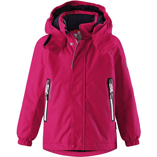 Куртка Chant Reimatec® ReimaВерхняя одежда<br>Характеристики товара:<br><br>• цвет: розовый;<br>• состав: 100% полиэстер;<br>• утеплитель: 160 г/м2;<br>• сезон: зима;<br>• температурный режим: от 0 до -20С;<br>• водонепроницаемость: 15000 мм;<br>• воздухопроницаемость: 7000 мм;<br>• износостойкость: 40000 циклов (тест Мартиндейла);<br>• водо и ветронепроницаемый, дышащий и грязеотталкивающий материал;<br>• все швы проклеены и водонепроницаемы;<br>• безопасный съемный  и регулируемый капюшон на кнопках;<br>• застежка: молния с дополнительной планкой на кнопках;<br>• защита подбородка от защемления;<br>• гладкая подкладка из полиэстера;<br>• эластичные манжеты;<br>• регулируемый подол;<br>• внутренний нагрудный карман;<br>• два кармана на молнии;<br>• карман с креплением для сенсора ReimaGO®;<br>• светоотражающие элементы;<br>• система кнопок Play Layers® к этой куртке можно присоединять одежду промежуточного слоя Reima®;<br>• страна бренда: Финляндия;<br>• страна производства: Китай.<br><br>Зимняя куртка Reimatec® изготовлена из водо и ветронепроницаемого, дышащего материала, который эффективно отталкивает грязь. Все швы проклеены, водонепроницаемы. В этой куртке прямого покроя подол при необходимости легко регулируется, что позволяет подогнать куртку точно по фигуре. <br><br>Съемный и регулируемый капюшон защищает от пронизывающего ветра и проливного дождя, а еще он безопасен во время игр на свежем воздухе. В куртке предусмотрены два кармана на молнии, внутренний нагрудный карман, карман для сенсора ReimaGO® и множество светоотражающих деталей. Эта куртка очень проста в уходе, кроме того, ее можно сушить в стиральной машине.<br><br>Куртка Chant Reimatec® Reima можно купить в нашем интернет-магазине.<br><br>Ширина мм: 356<br>Глубина мм: 10<br>Высота мм: 245<br>Вес г: 519<br>Цвет: розовый<br>Возраст от месяцев: 36<br>Возраст до месяцев: 48<br>Пол: Унисекс<br>Возраст: Детский<br>Размер: 104,140,134,128,122,116,110<br>SKU: 6907858